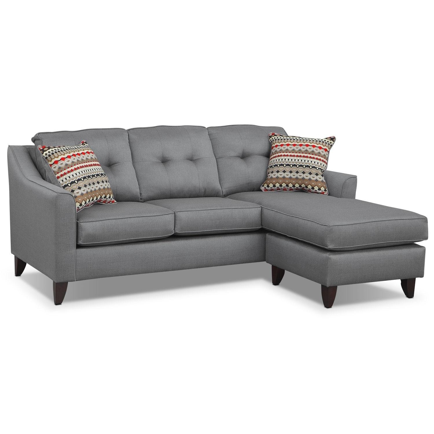 Marco Chaise Sofa And Chair Set – Gray | Value City Furniture Intended For Chaise Sofa Chairs (View 20 of 20)