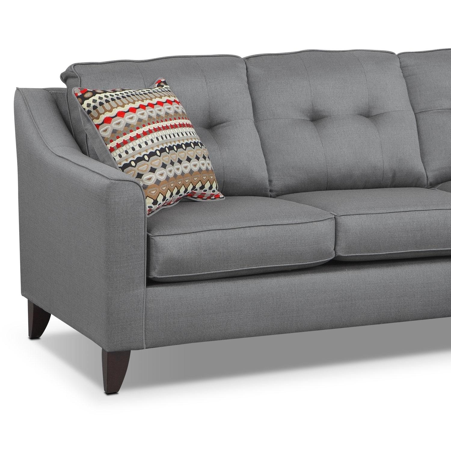 Marco Chaise Sofa – Gray | American Signature Furniture Intended For Chaise Sofas (Image 13 of 20)