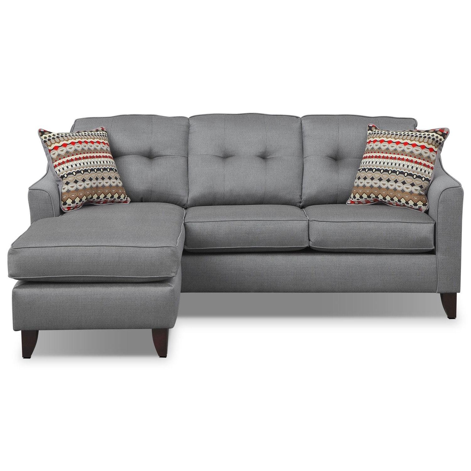 Marco Chaise Sofa – Gray | American Signature Furniture Regarding Chaise Sofas (Image 14 of 20)