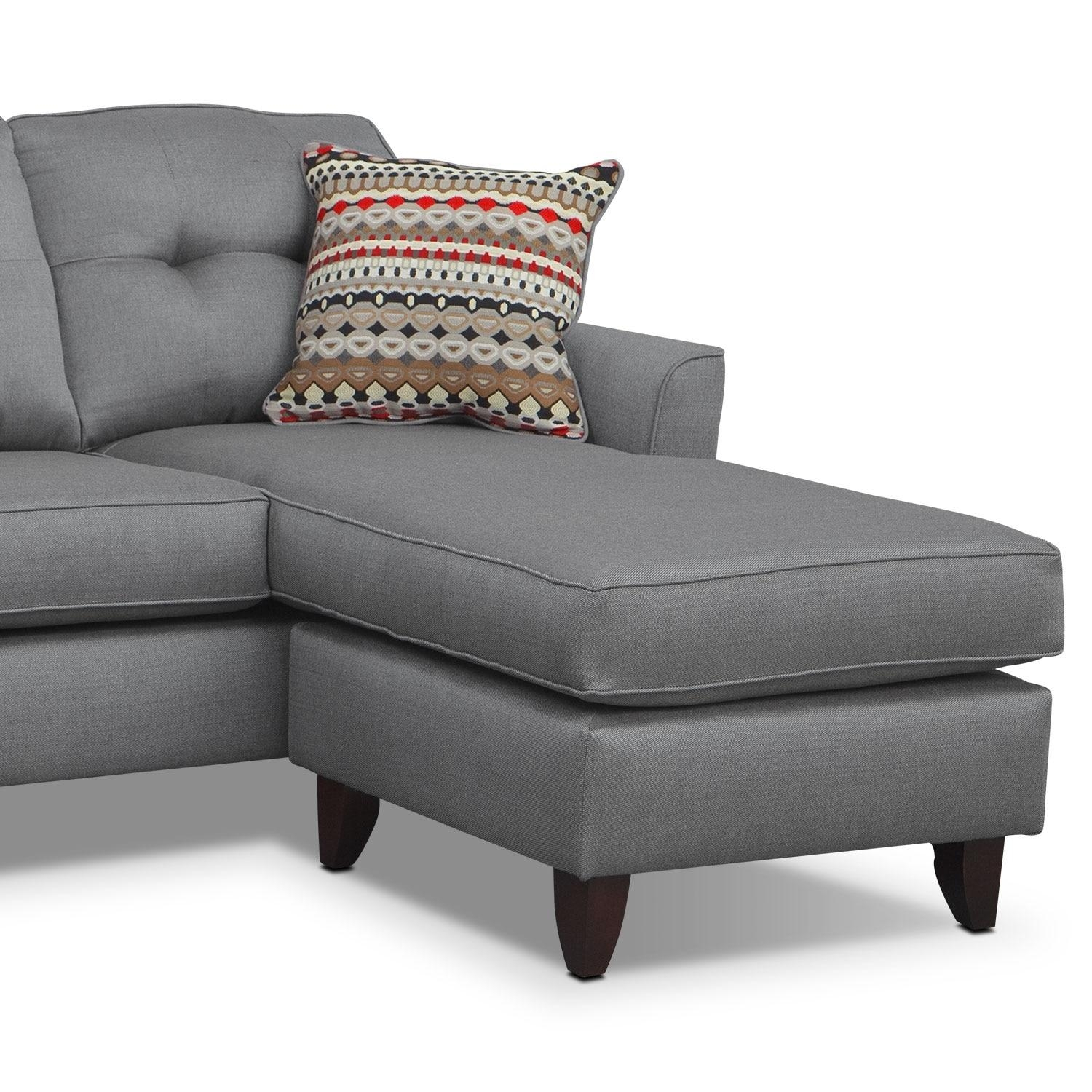 Marco Chaise Sofa – Gray | Value City Furniture Intended For Chaise Sofa Chairs (View 7 of 20)