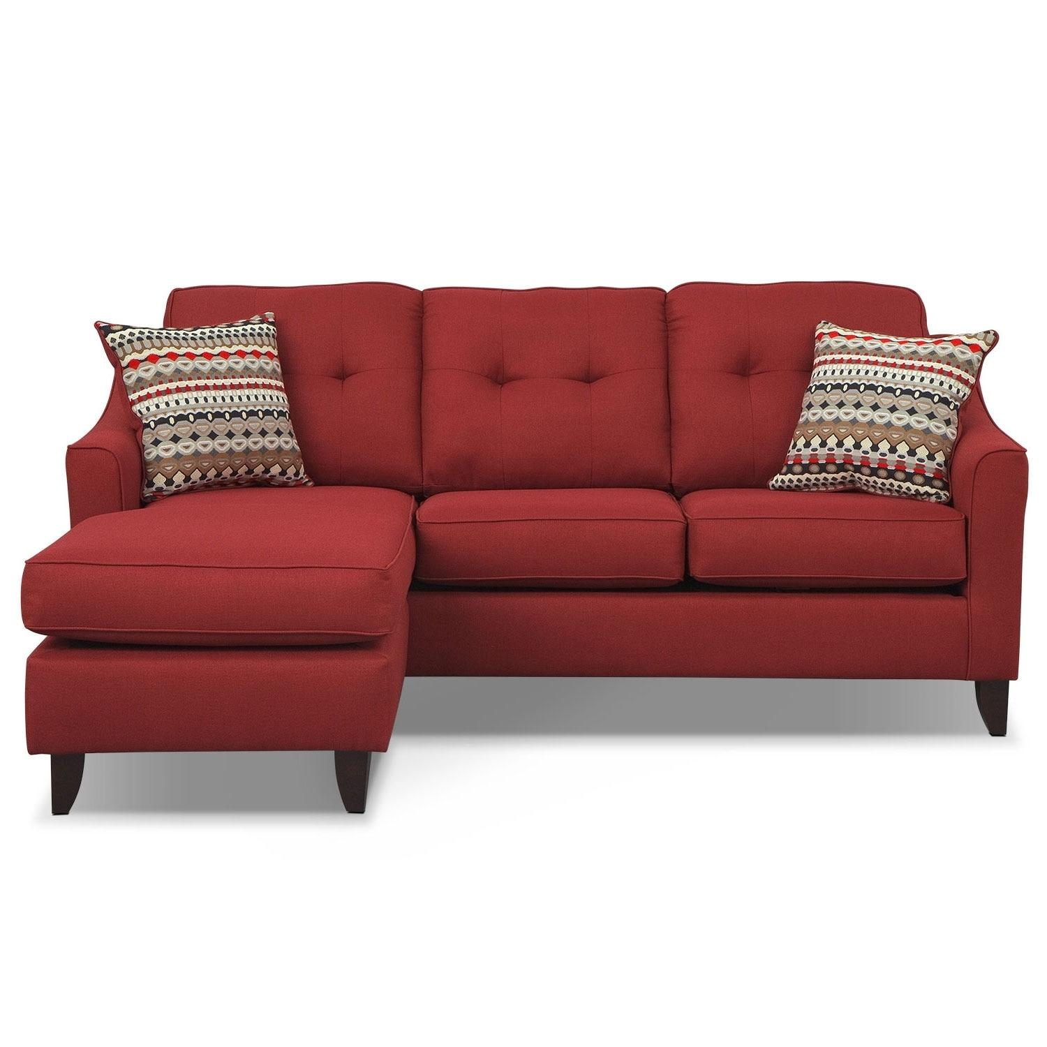 Marco Chaise Sofa – Red | Value City Furniture Within Chaise Sofas (Image 16 of 20)