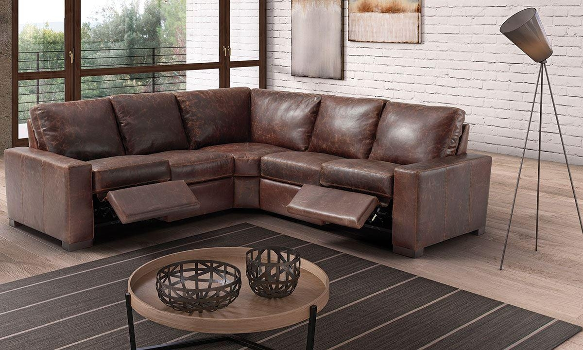 Marinelli Maryland Power Reclining Top Grain Italian Leather With Regard To Sofa Maryland (Image 3 of 20)