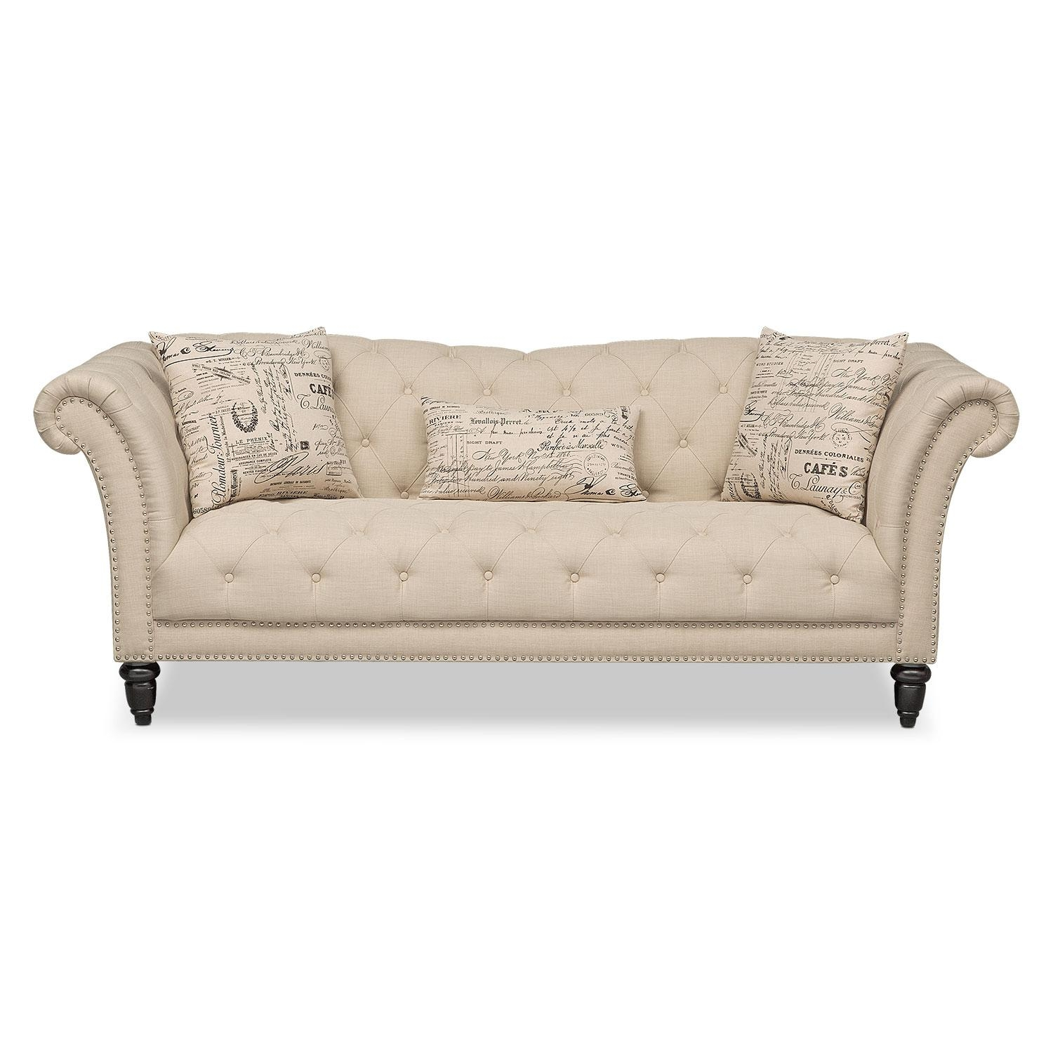 Marisol Sofa – Beige | Value City Furniture Intended For Beige Sofas (Image 14 of 20)