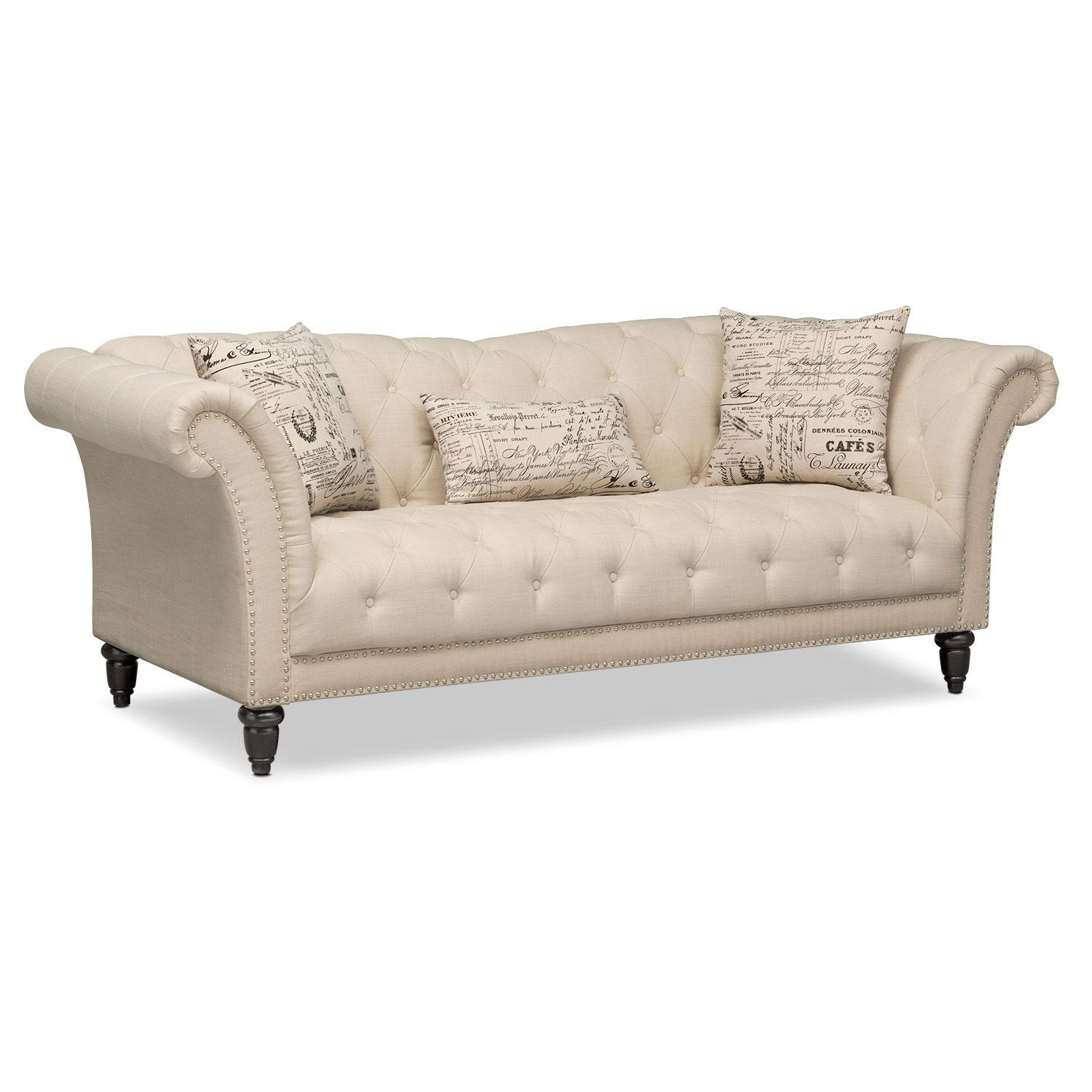 Marisol Sofa – Beige | Value City Furniture Intended For Beige Sofas (Image 13 of 20)
