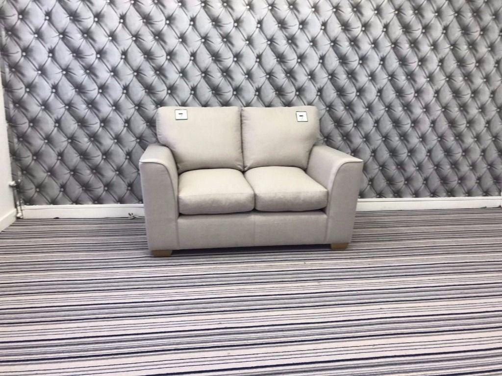 Marks And Spencer Dillon Small Sofa In Suva Plain Light Grey Pertaining To Marks And Spencer Sofas And Chairs (View 14 of 20)