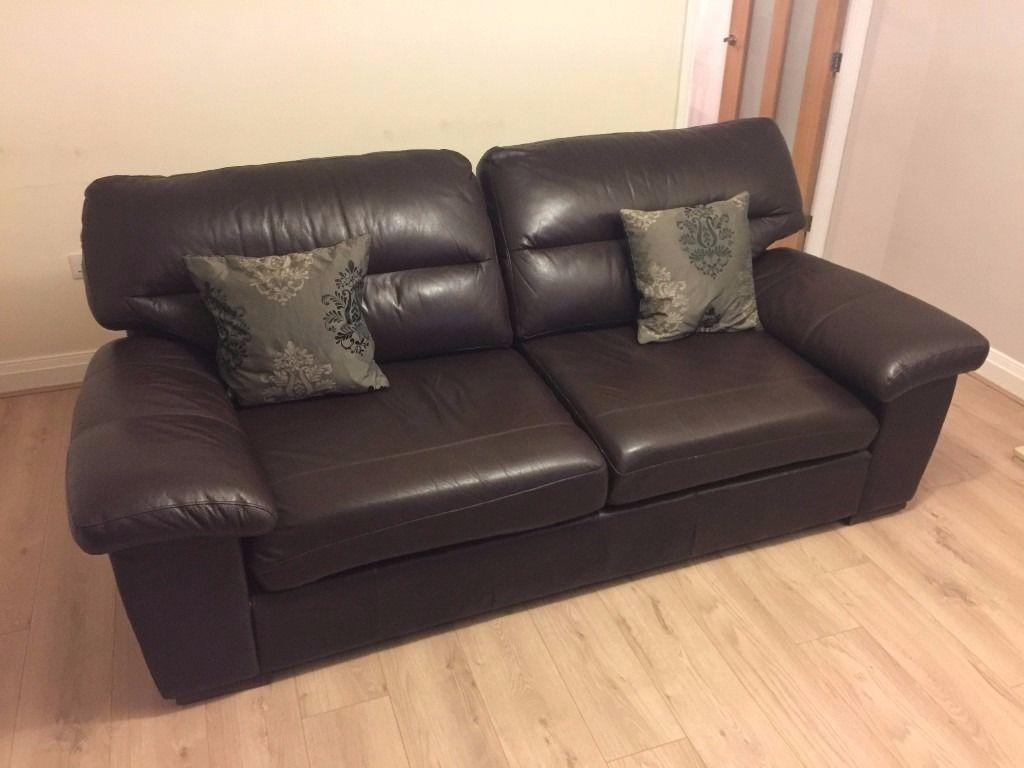 Marks & Spencer Large Ashbourne Sofa In Dark Brown Leather | In Throughout Marks And Spencer Sofas And Chairs (View 15 of 20)