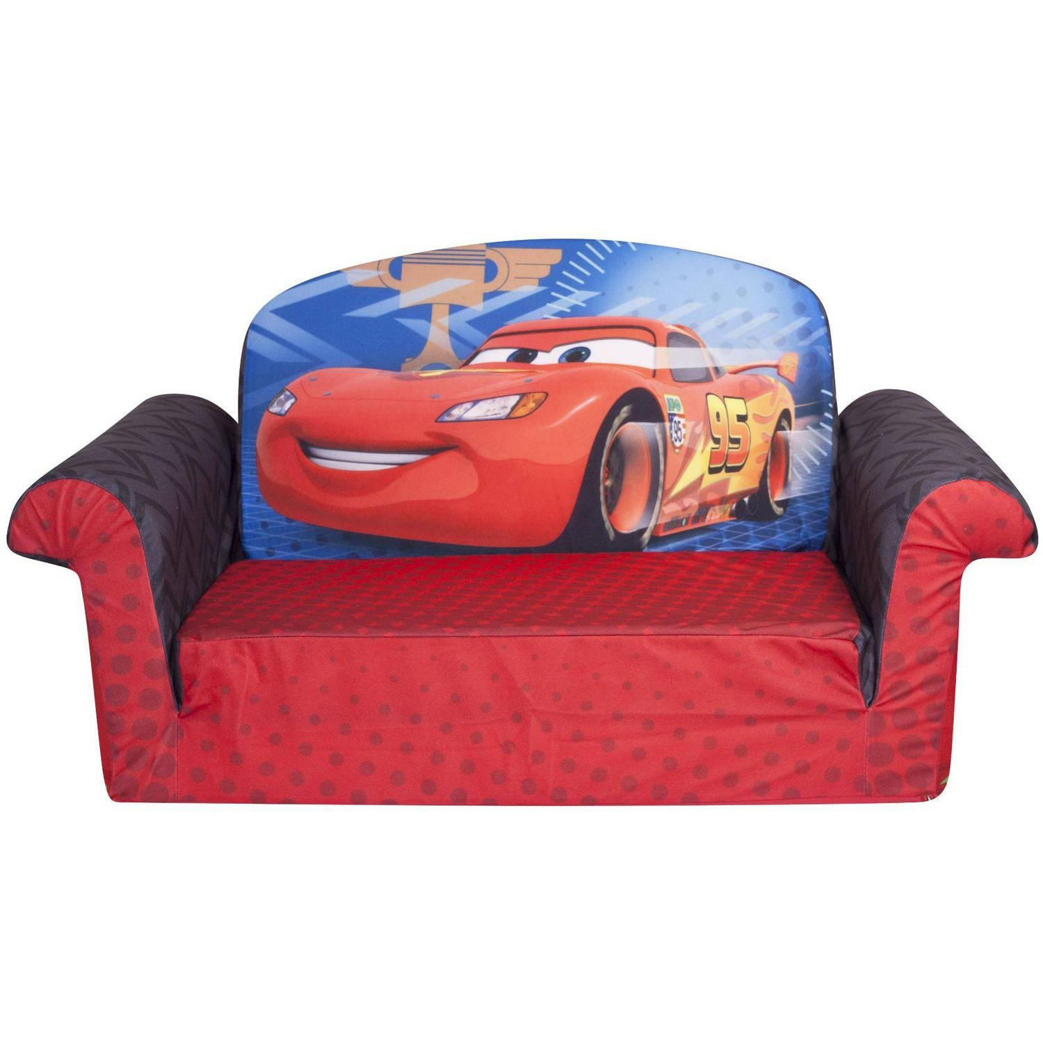 Marshmallow 2 In 1 Flip Open Sofa, Disney Cars 2 – Walmart Intended For Mickey Flip Sofas (Image 3 of 20)