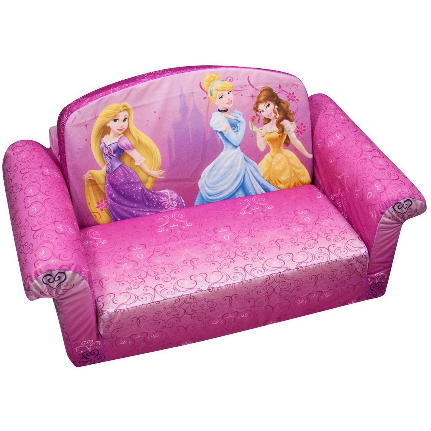 Marshmallow 2 In 1 Flip Open Sofa, Disney Princess – Walmart Within Flip Open Couches (Image 5 of 20)
