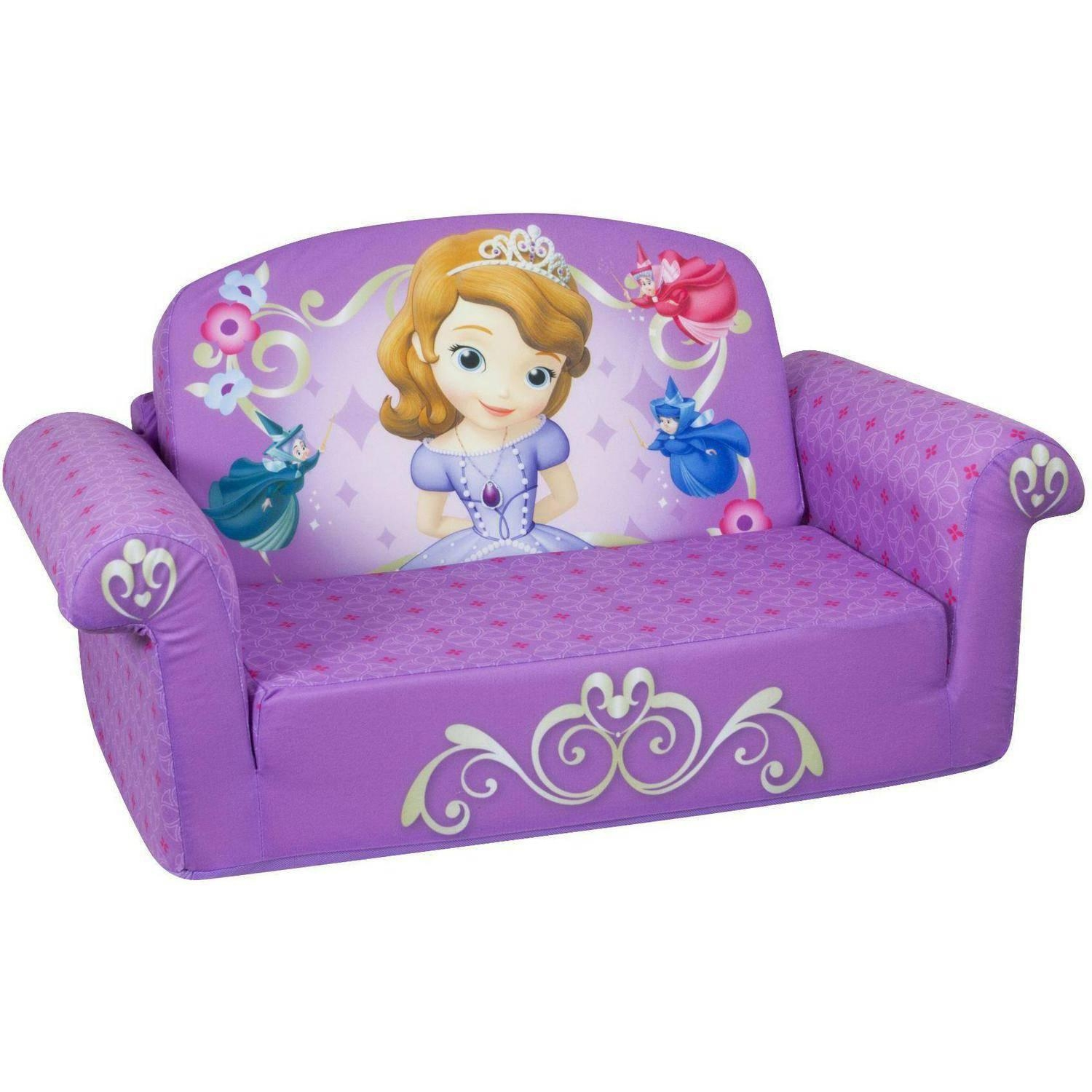 Marshmallow 2 In 1 Flip Open Sofa, Disney Sofia The First Within Disney Princess Couches (View 11 of 20)