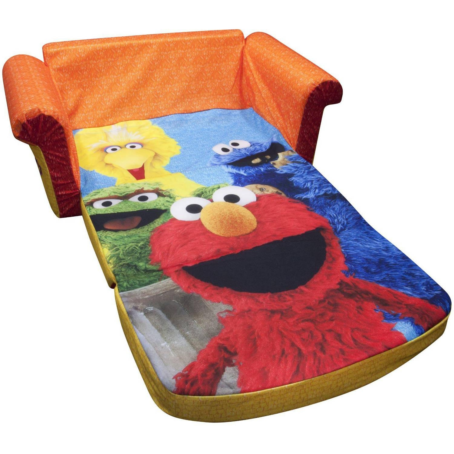 Marshmallow 2 In 1 Flip Open Sofa, Sesame Street's Elmo – Walmart Within Flip Open Couches (View 18 of 20)