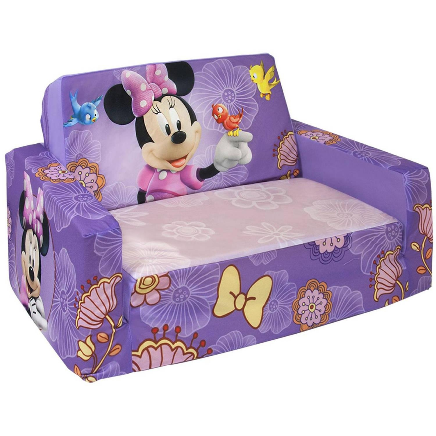 Marshmallow Flip Open Sofa With Slumber, Disney's Minnie Mouse With Flip Open Couches (Image 9 of 20)