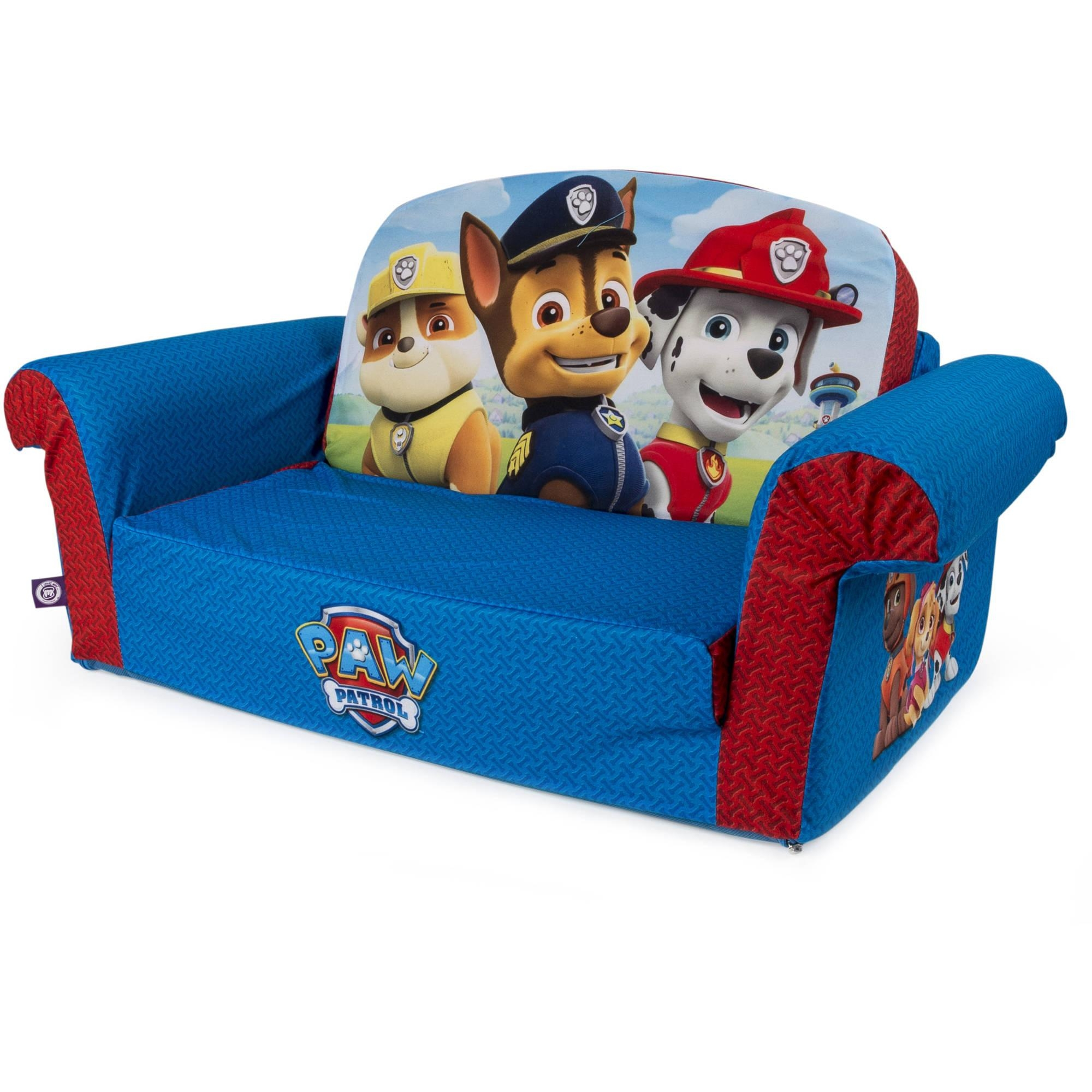 Marshmallow Furniture, Children's 2 In 1 Flip Open Foam Sofa Inside Childrens Sofa Bed Chairs (Image 13 of 20)