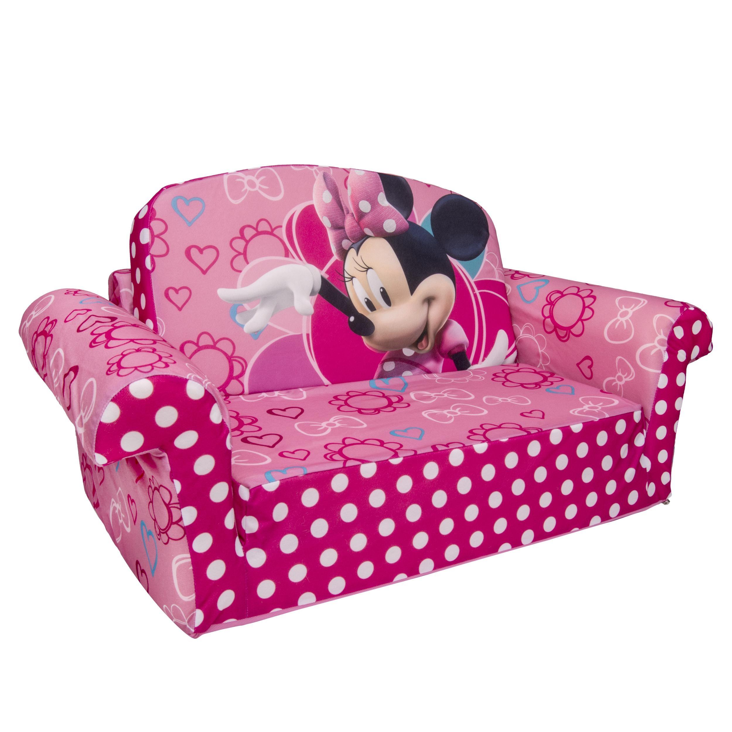 Marshmallow Furniture, Children's 2 In 1 Flip Open Foam Sofa Throughout Disney Sofas (Image 8 of 20)