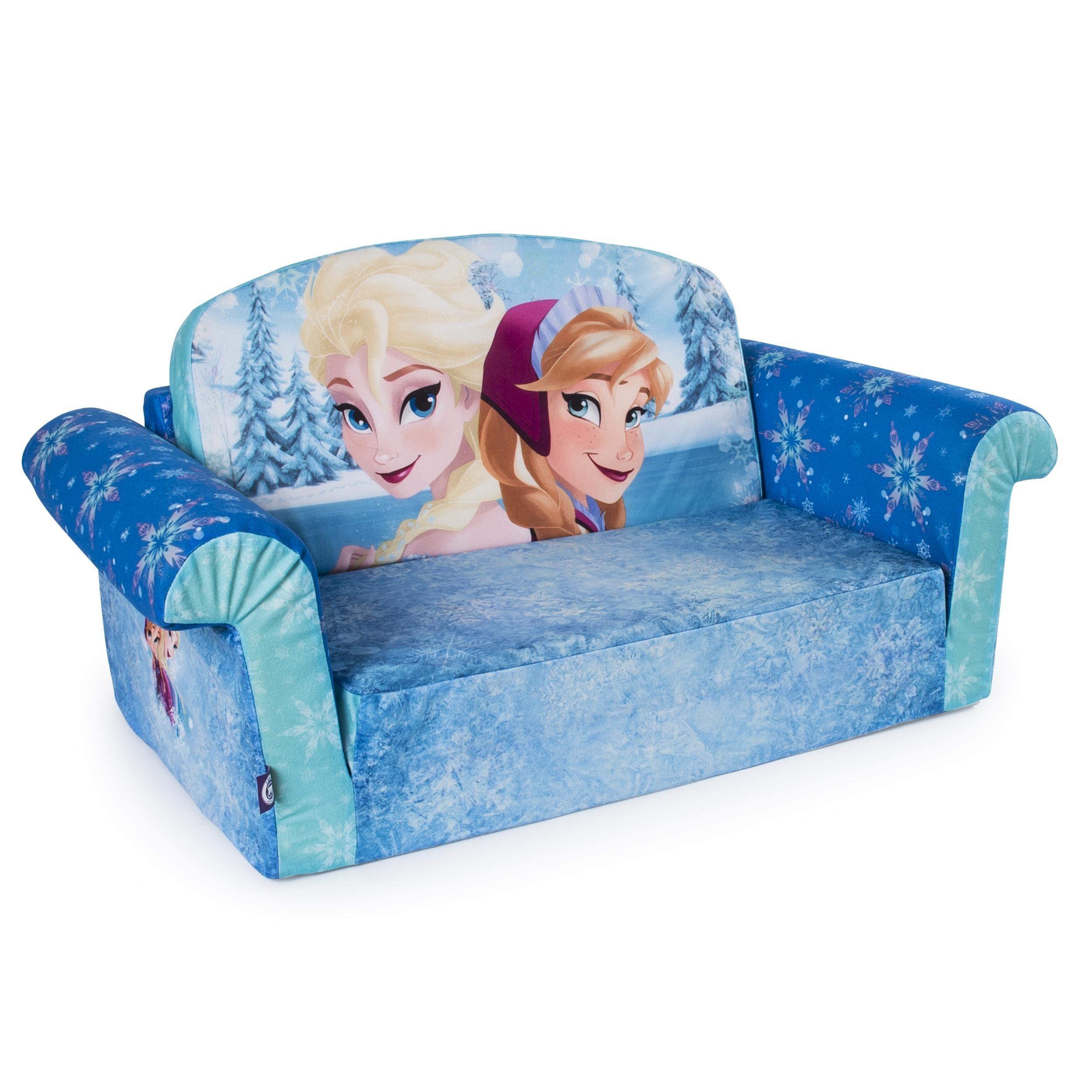 Marshmallow Furniture, Children's 2 In 1 Flip Open Foam Sofa Throughout Disney Sofas (Image 7 of 20)