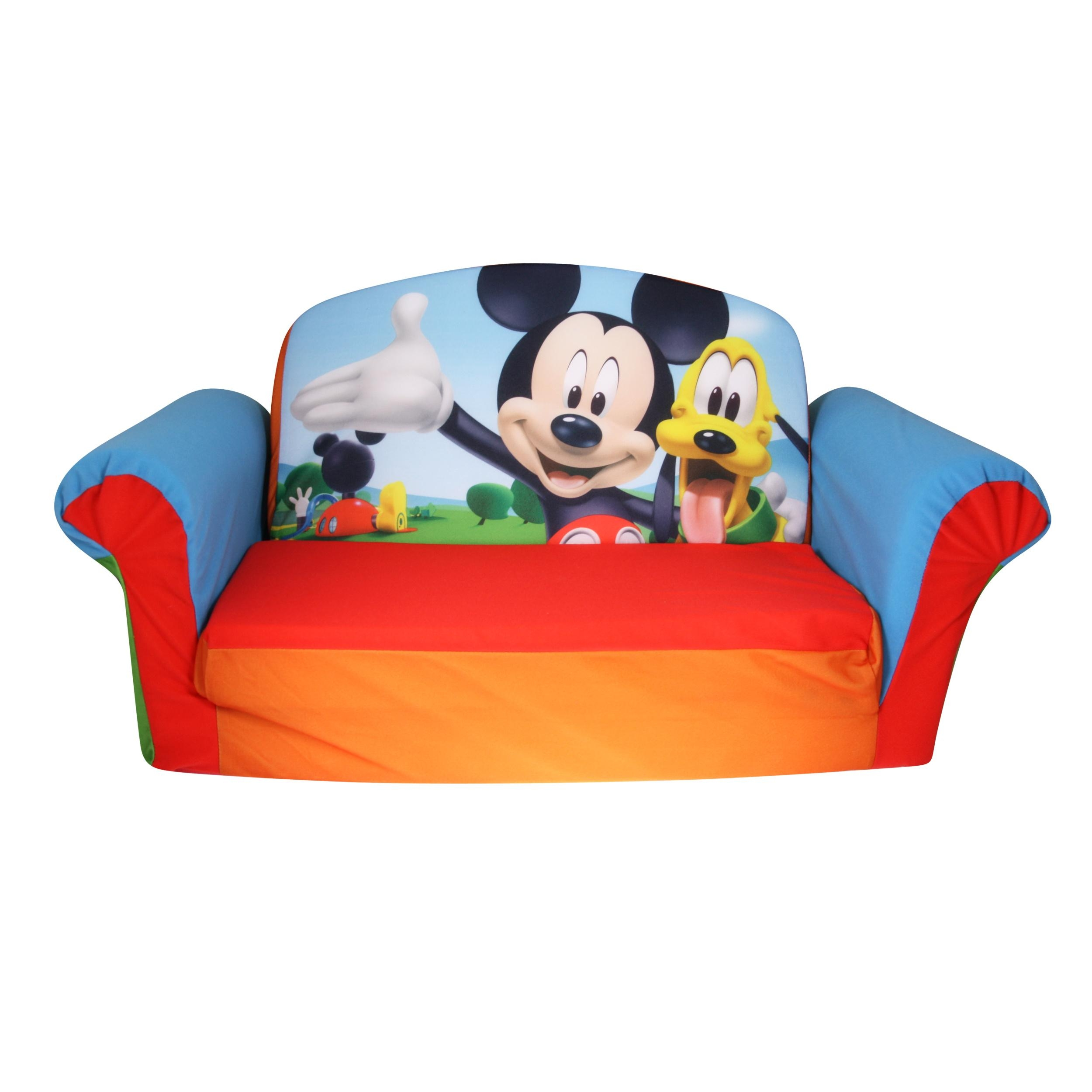 Marshmallow Furniture, Children's 2 In 1 Flip Open Foam Sofa Throughout Mickey Fold Out Couches (Image 6 of 20)