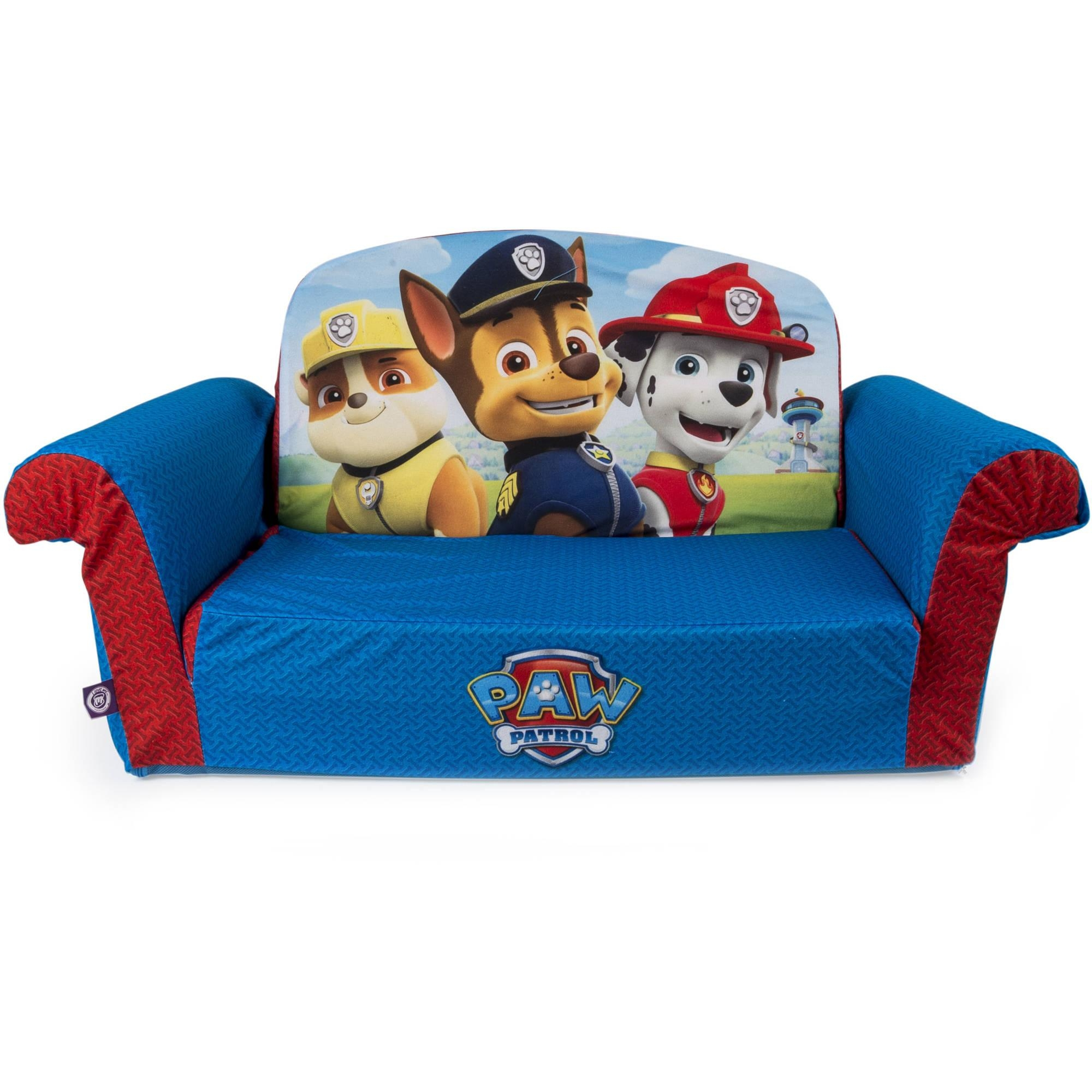 Marshmallow Furniture, Children's 2 In 1 Flip Open Foam Sofa With Childrens Sofa Bed Chairs (Image 15 of 20)