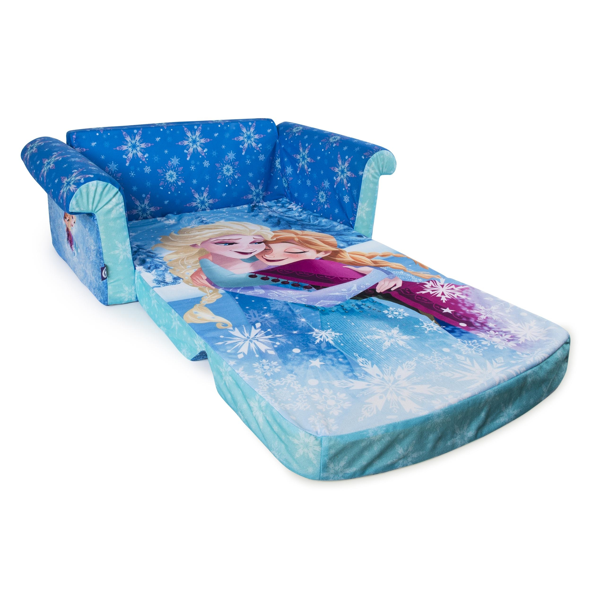 Marshmallow Furniture, Children's 2 In 1 Flip Open Foam Sofa With Disney Princess Couches (Image 12 of 20)