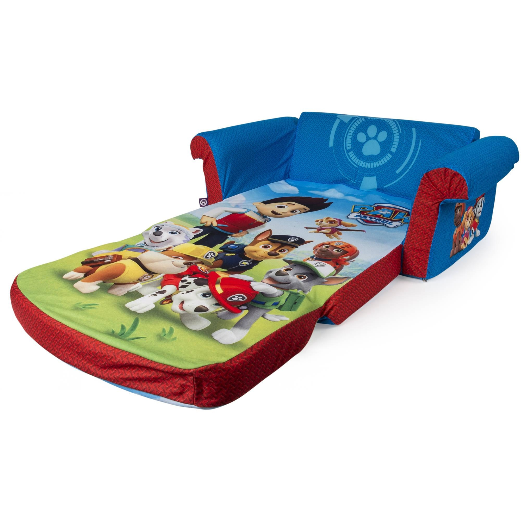 Marshmallow Furniture, Children's 2 In 1 Flip Open Foam Sofa With Toddler Sofa Chairs (Image 9 of 20)