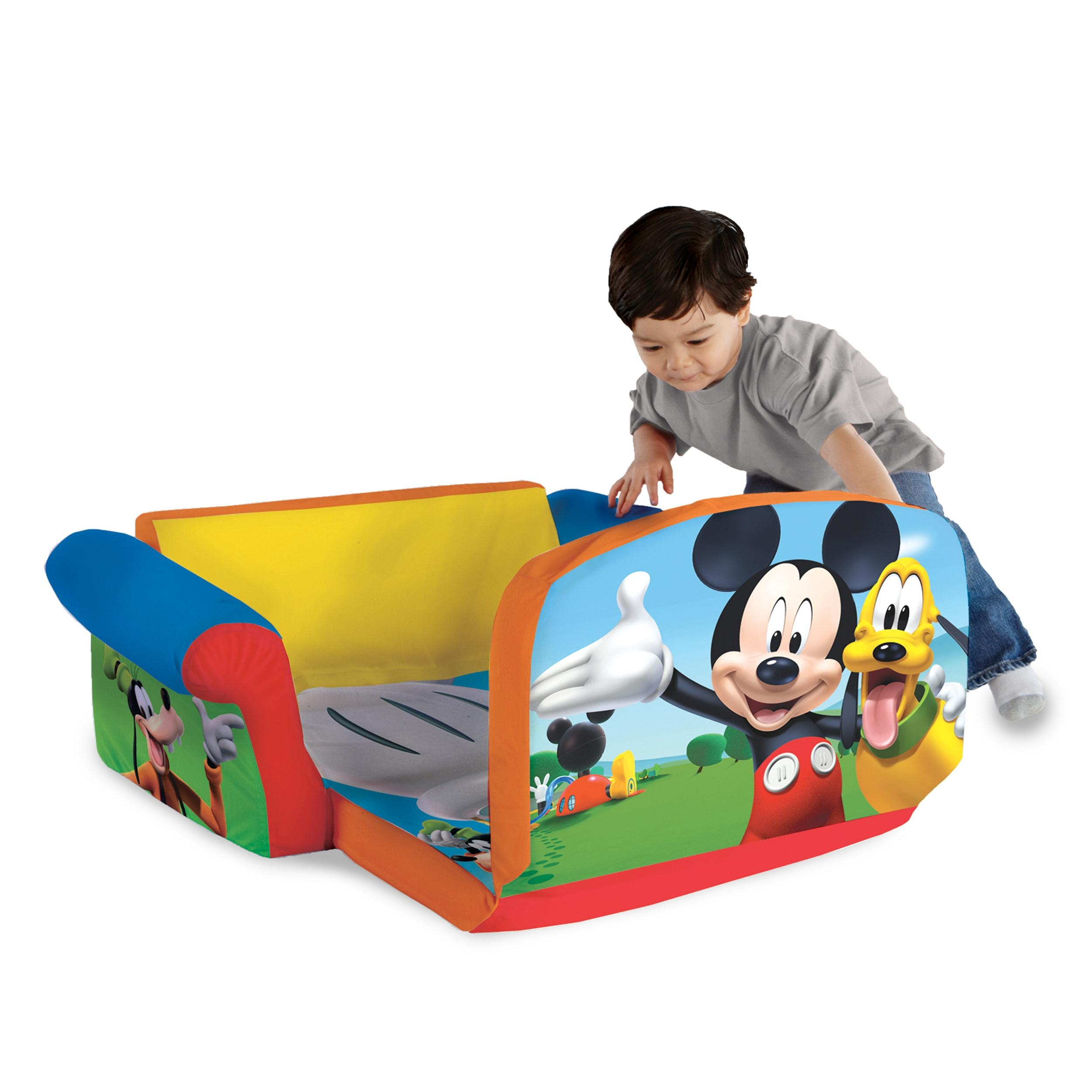 Marshmallow Furniture, Children's 2 In 1 Flip Open Foam Sofa Within Mickey Mouse Clubhouse Couches (View 16 of 20)