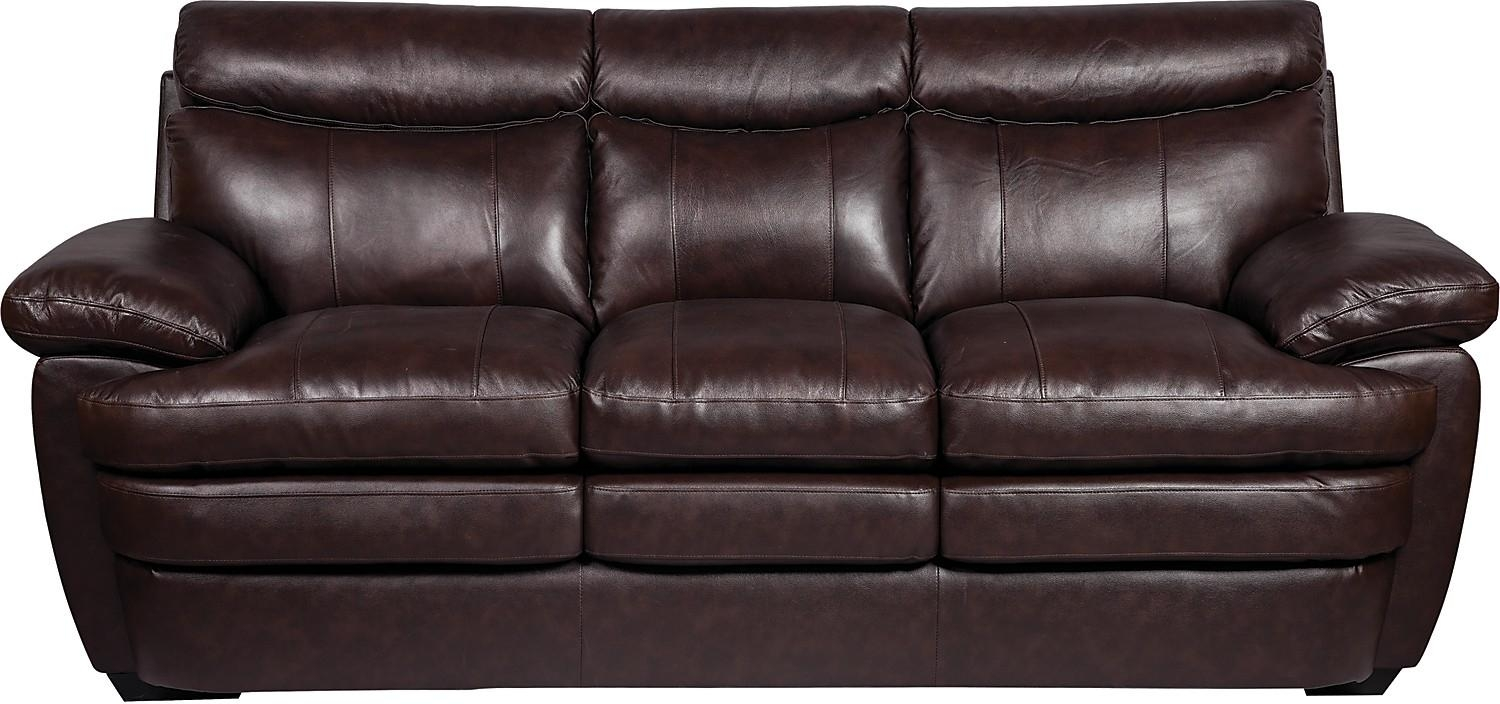 Marty Genuine Leather Sofa – Brown | The Brick For The Brick Leather Sofa (View 4 of 20)