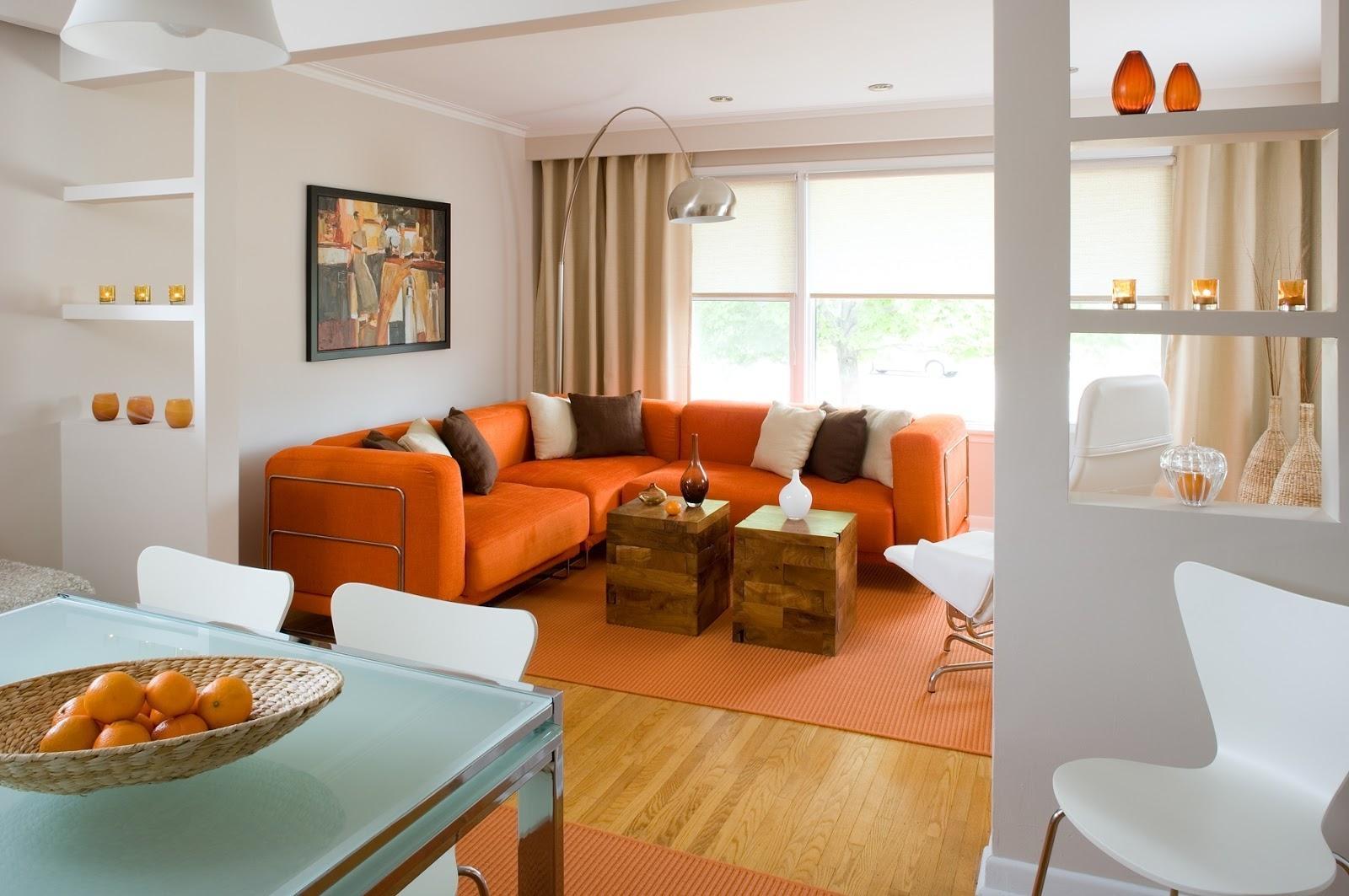 Marvellous Orange Living Room Furniture Design – Orange Accent Throughout Orange Sofa Chairs (View 18 of 20)