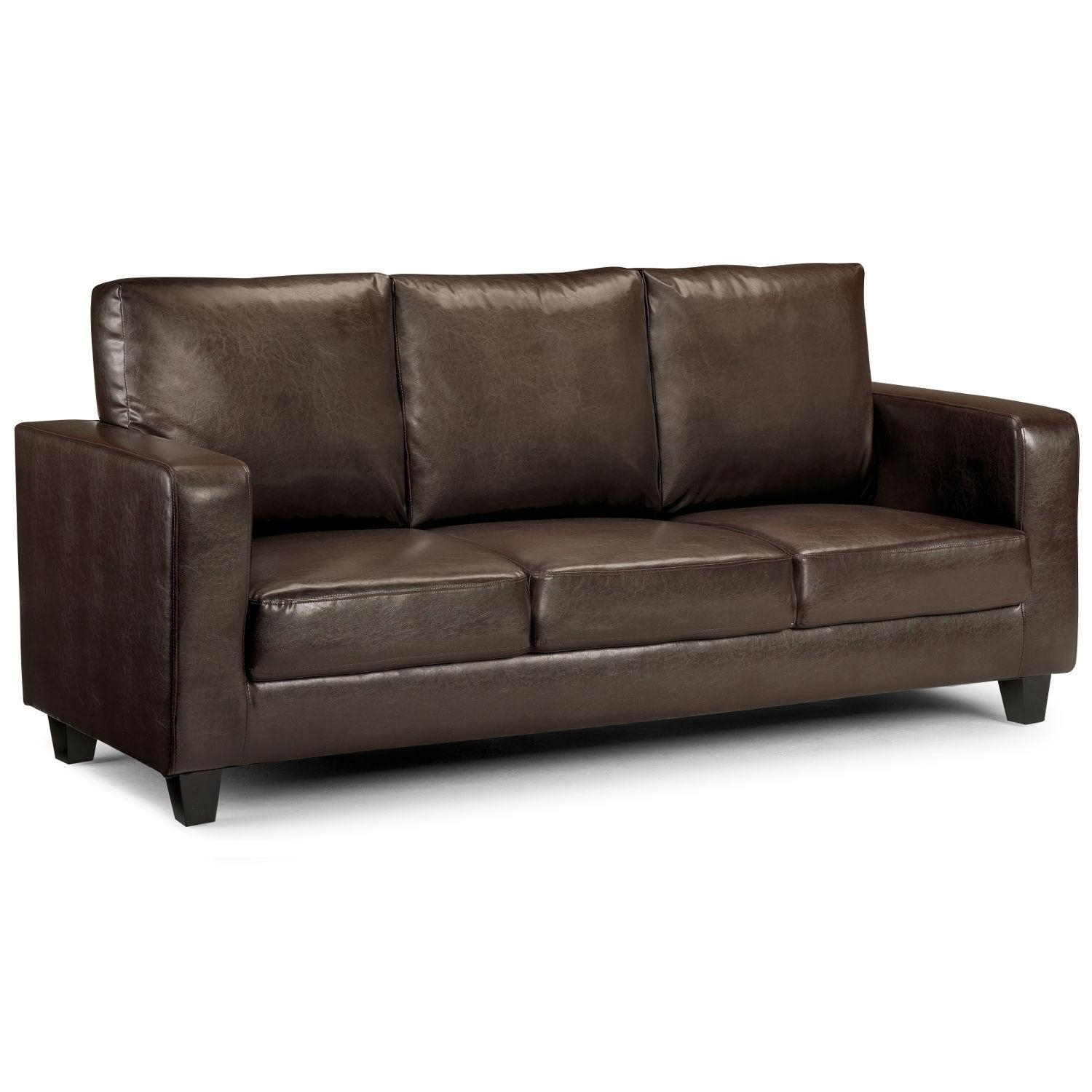 Matthew 3 Seater Faux Leather Sofa – Next Day Delivery Matthew 3 With 3 Seater Leather Sofas (Image 7 of 20)