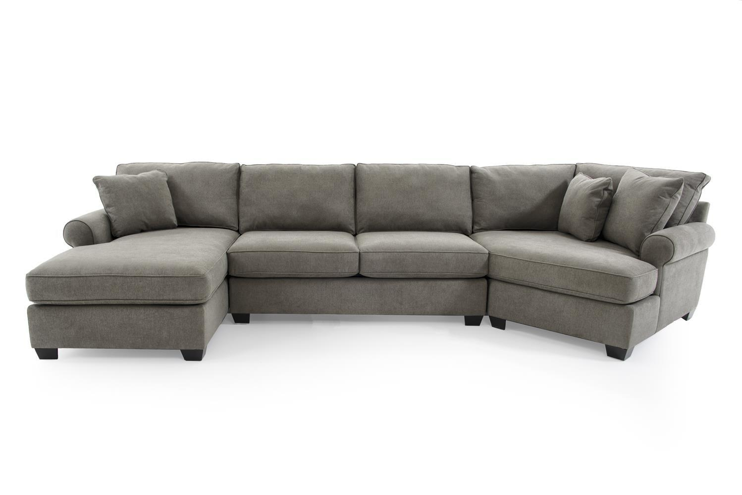 Max Home Jessica Casual Three Piece Sectional Sofa With Cuddler In Cuddler Sectional Sofa (View 11 of 15)