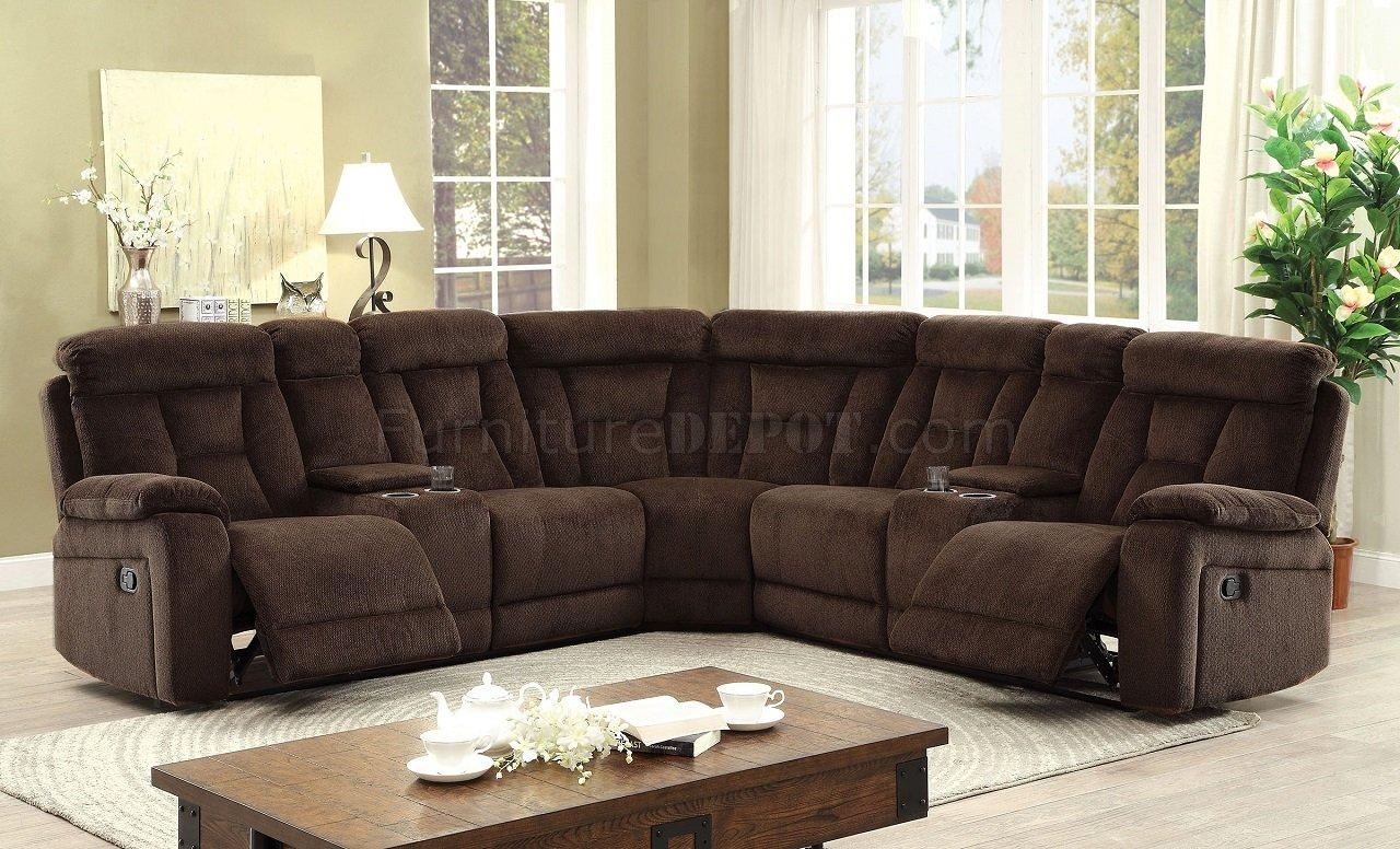 Maybell Motion Sectional Sofa Cm6773Br In Brown Chenille Fabric Within Chenille Sectional Sofas (View 13 of 20)