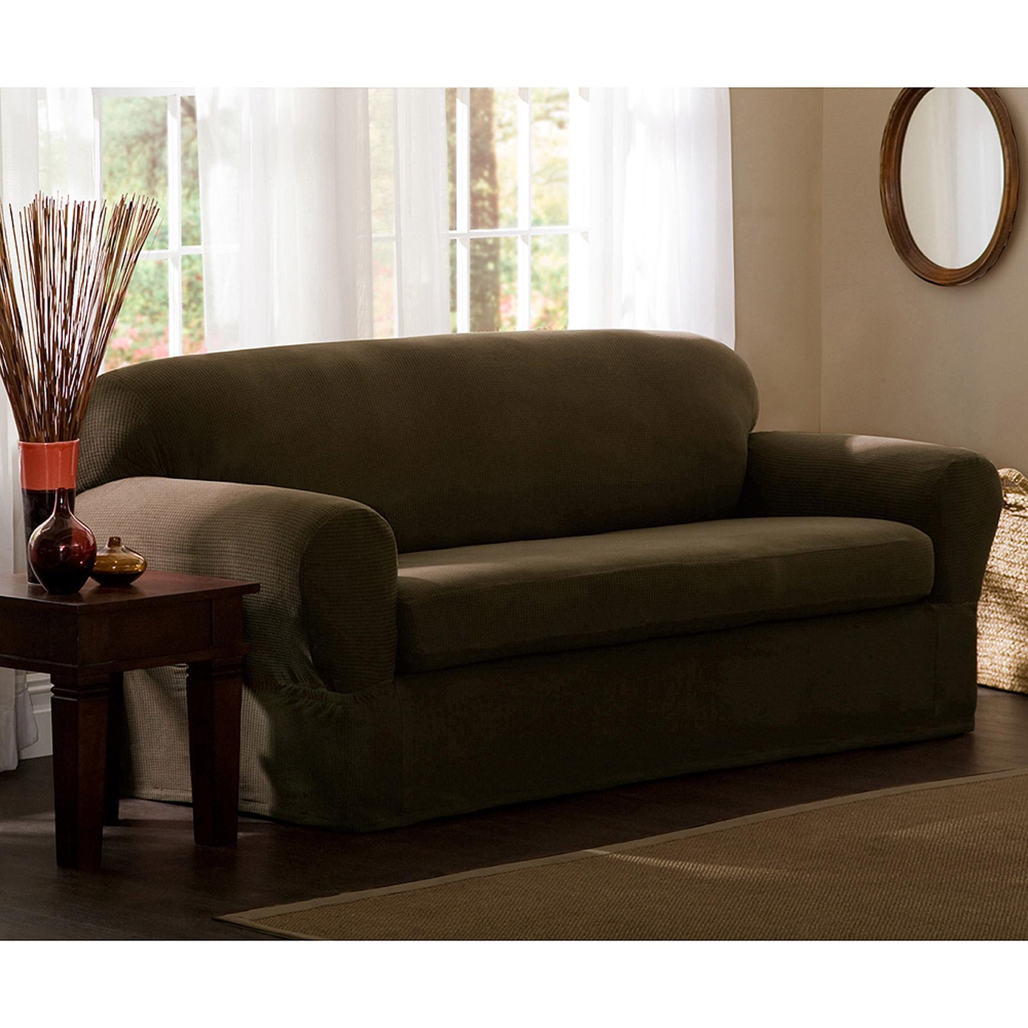 Maytex Reeves Polyester/spandex Loveseat Slipcover – Walmart Throughout Walmart Slipcovers For Sofas (Image 14 of 20)