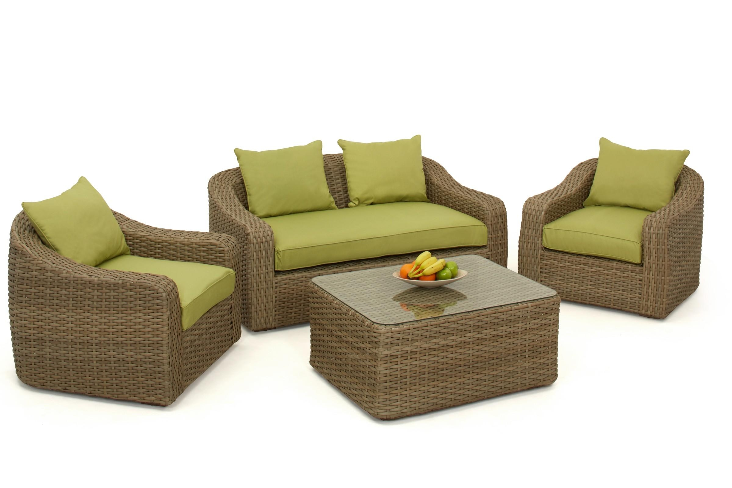Maze Rattan Milan Rounded Sofa Set | Maze Living In Rounded Sofa (Image 10 of 20)