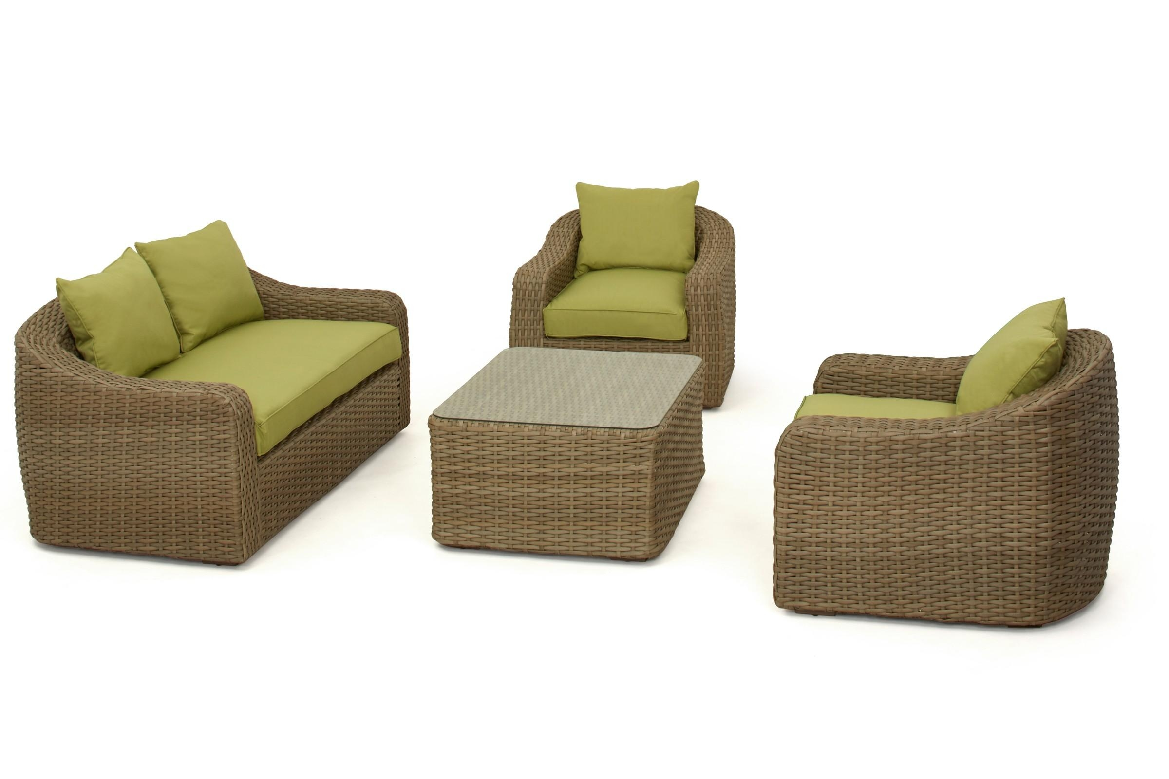 Maze Rattan Milan Rounded Sofa Set | Maze Living Within Rounded Sofa (View 15 of 20)