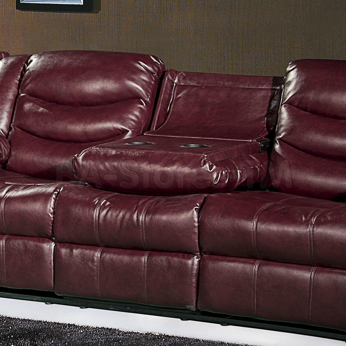 Meridian Furniture 644 Sectional Sofa | Burgundy | Sectional Sofas Within Burgundy Sectional Sofas (Image 15 of 20)