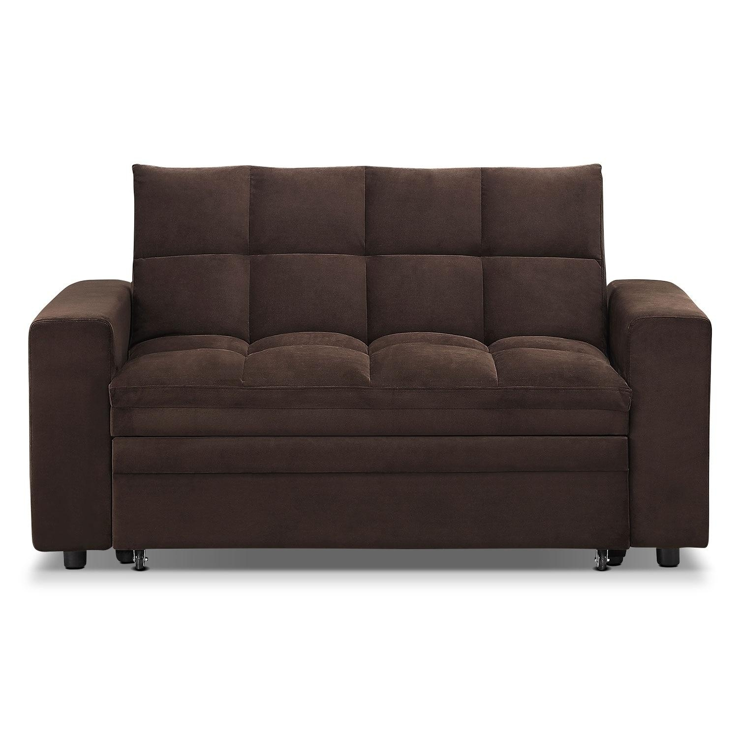 Metro Chaise Sofa Bed With Storage – Brown | American Signature Inside Chaise Sofa Beds With Storage (View 4 of 20)