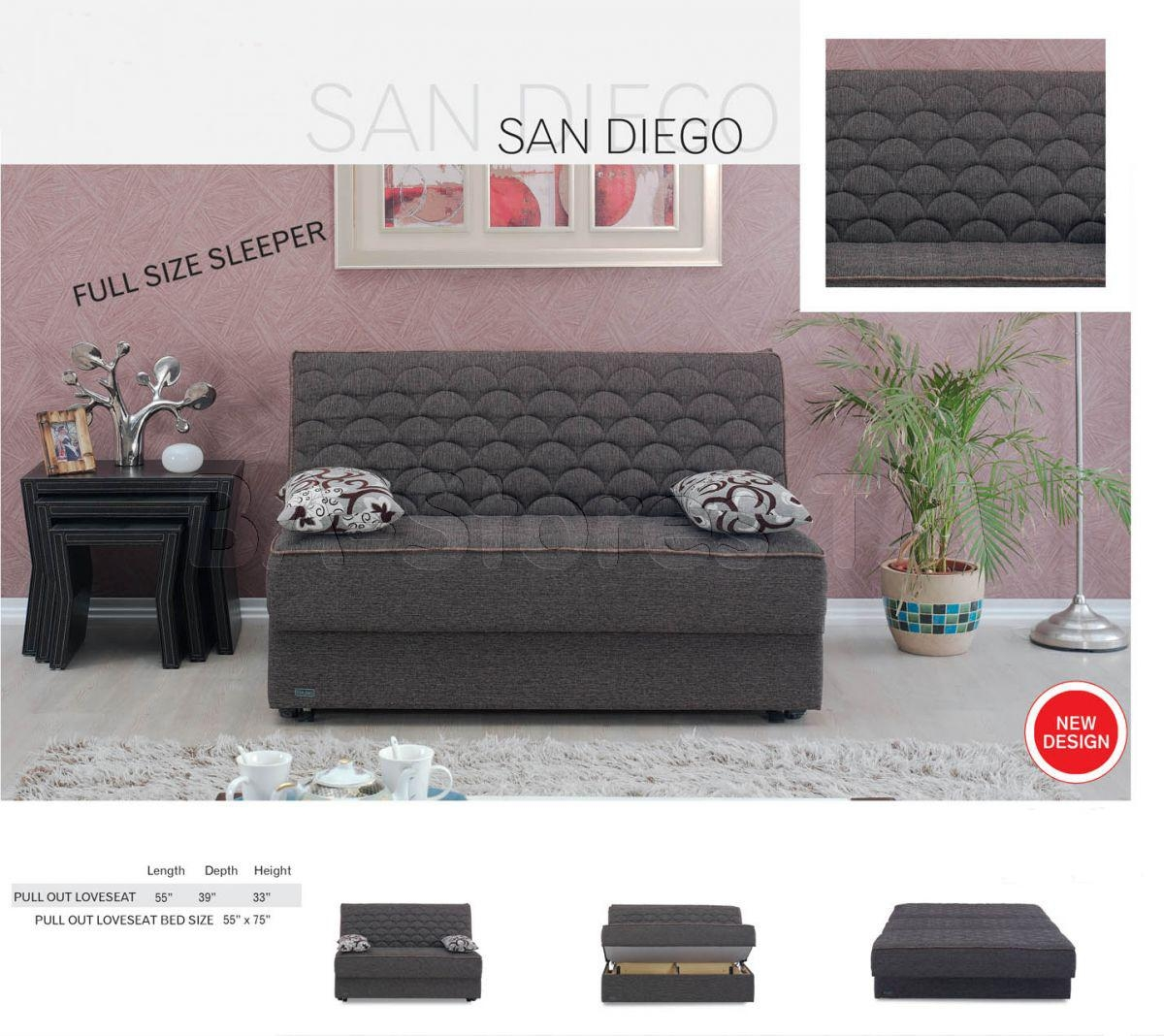 Meyan Furniture San Diego Armless Sleeper Sofa Bed | Sofa Beds San For San Diego Sleeper Sofas (Image 5 of 20)