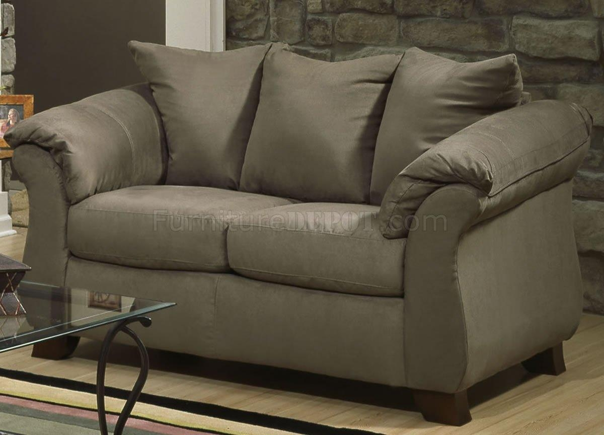Microfiber Elegant Modern Sofa & Loveseat Set W/options For Green Microfiber Sofas (Image 16 of 20)