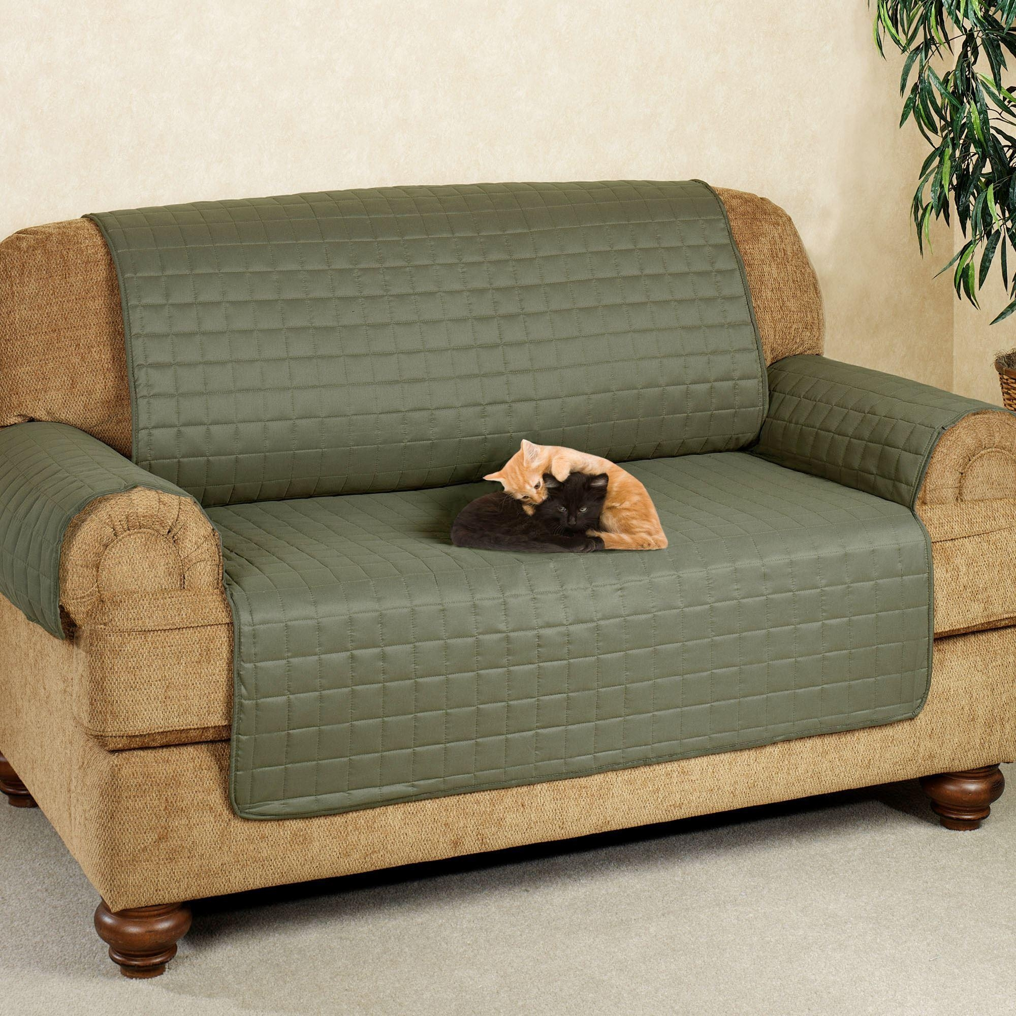 Microfiber Pet Furniture Covers With Tuck In Flaps For Arm Protectors For Sofas (Image 10 of 20)