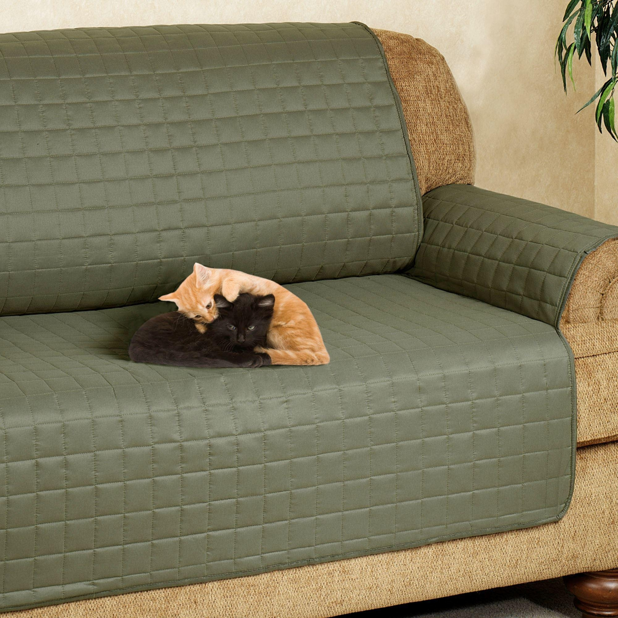 Microfiber Pet Furniture Covers With Tuck In Flaps Intended For Pet Proof Sofa Covers (Image 7 of 20)