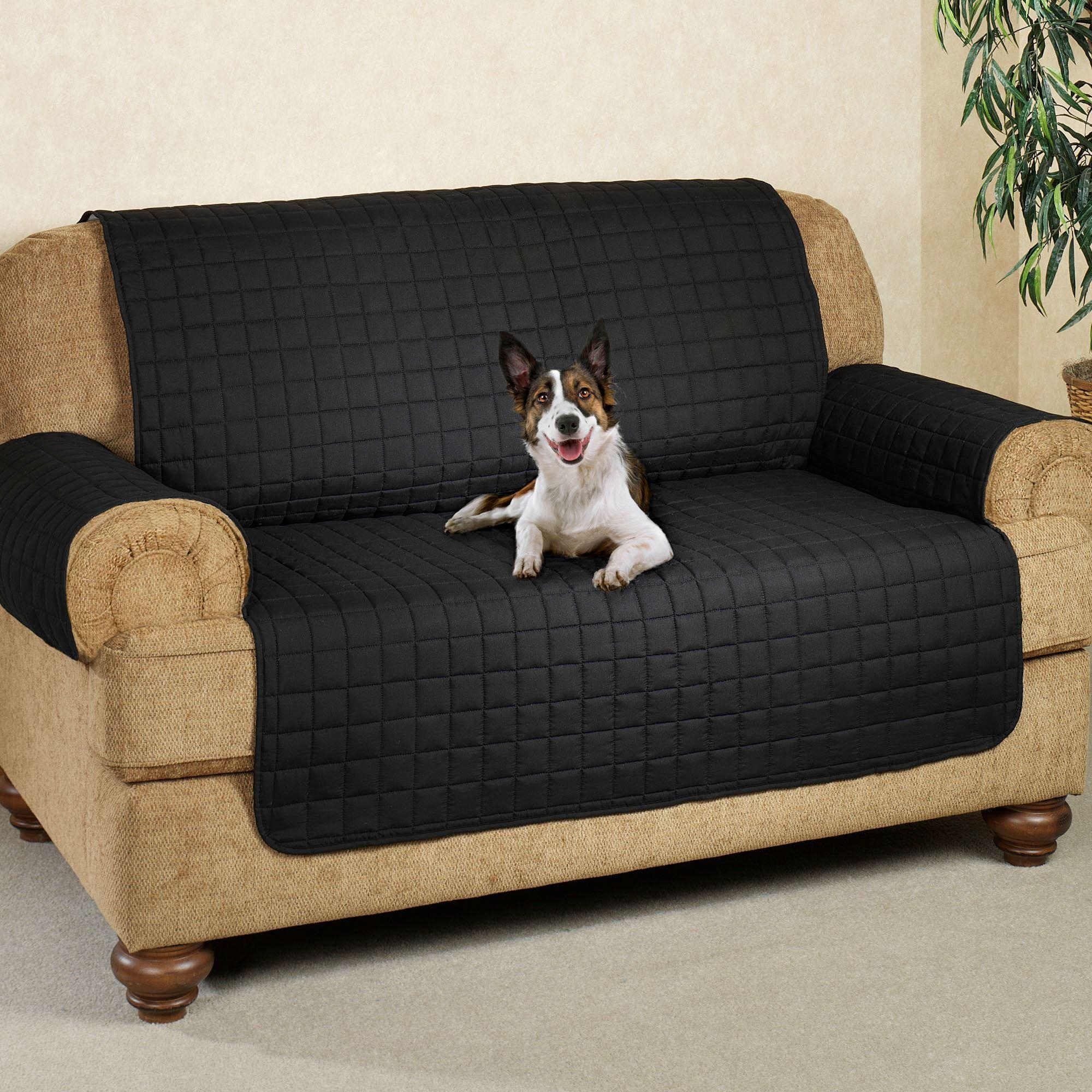 Microfiber Pet Furniture Covers With Tuck In Flaps Intended For Pet Proof Sofa Covers (View 8 of 20)