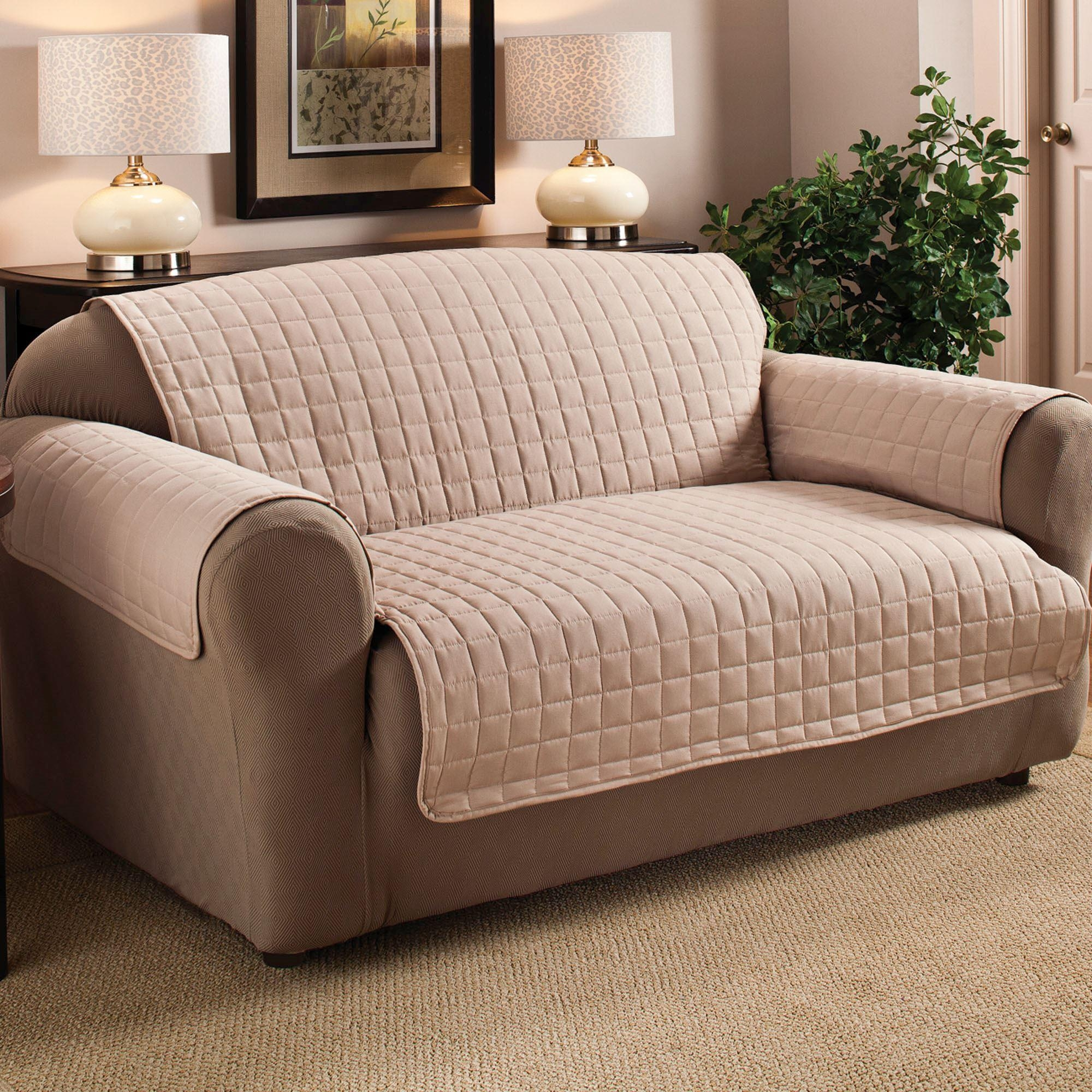 Microfiber Pet Furniture Covers With Tuck In Flaps With Pet Proof Sofa Covers (Image 8 of 20)