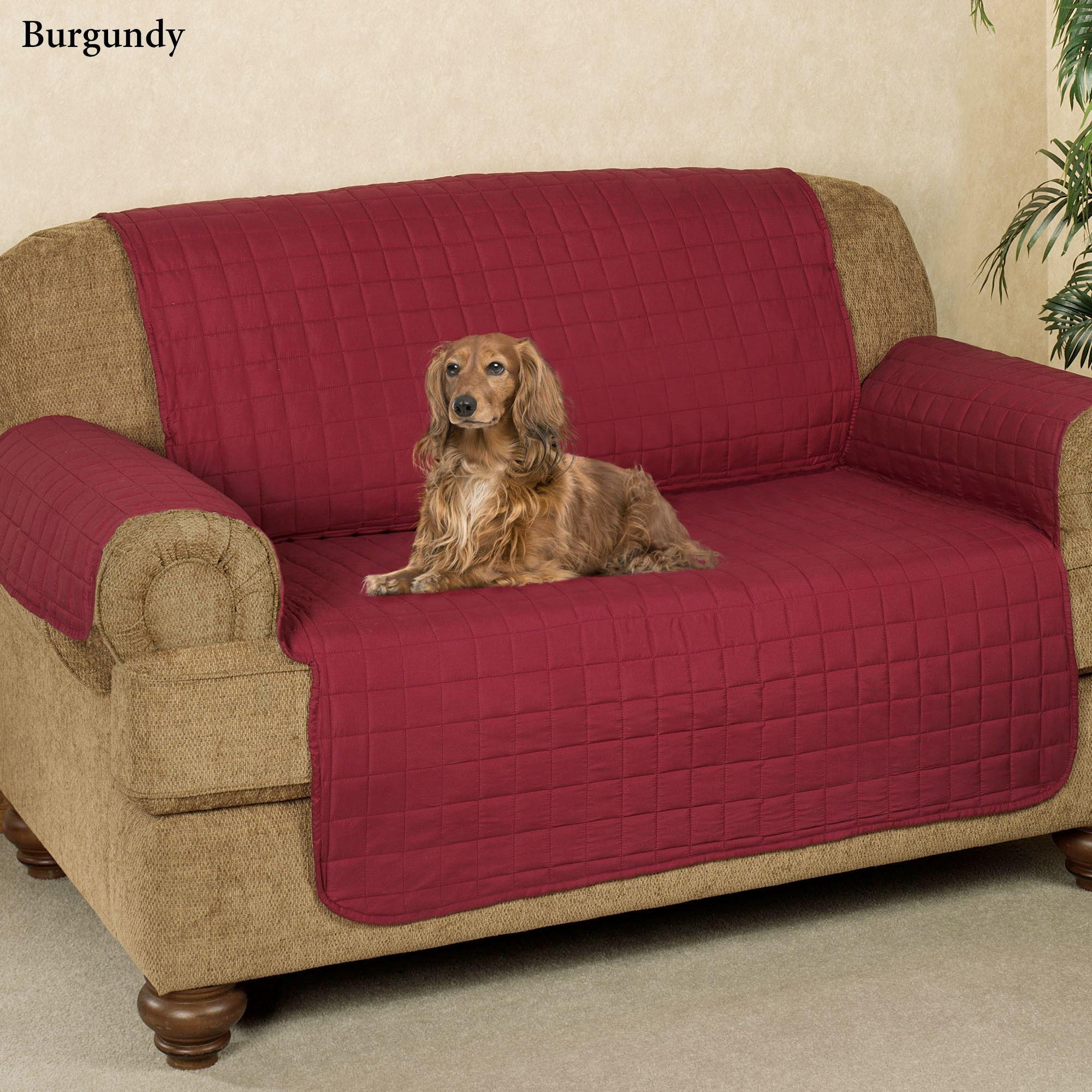 Microfiber Pet Furniture Covers With Tuck In Flaps With Regard To Sofa And Loveseat Covers (Image 14 of 20)