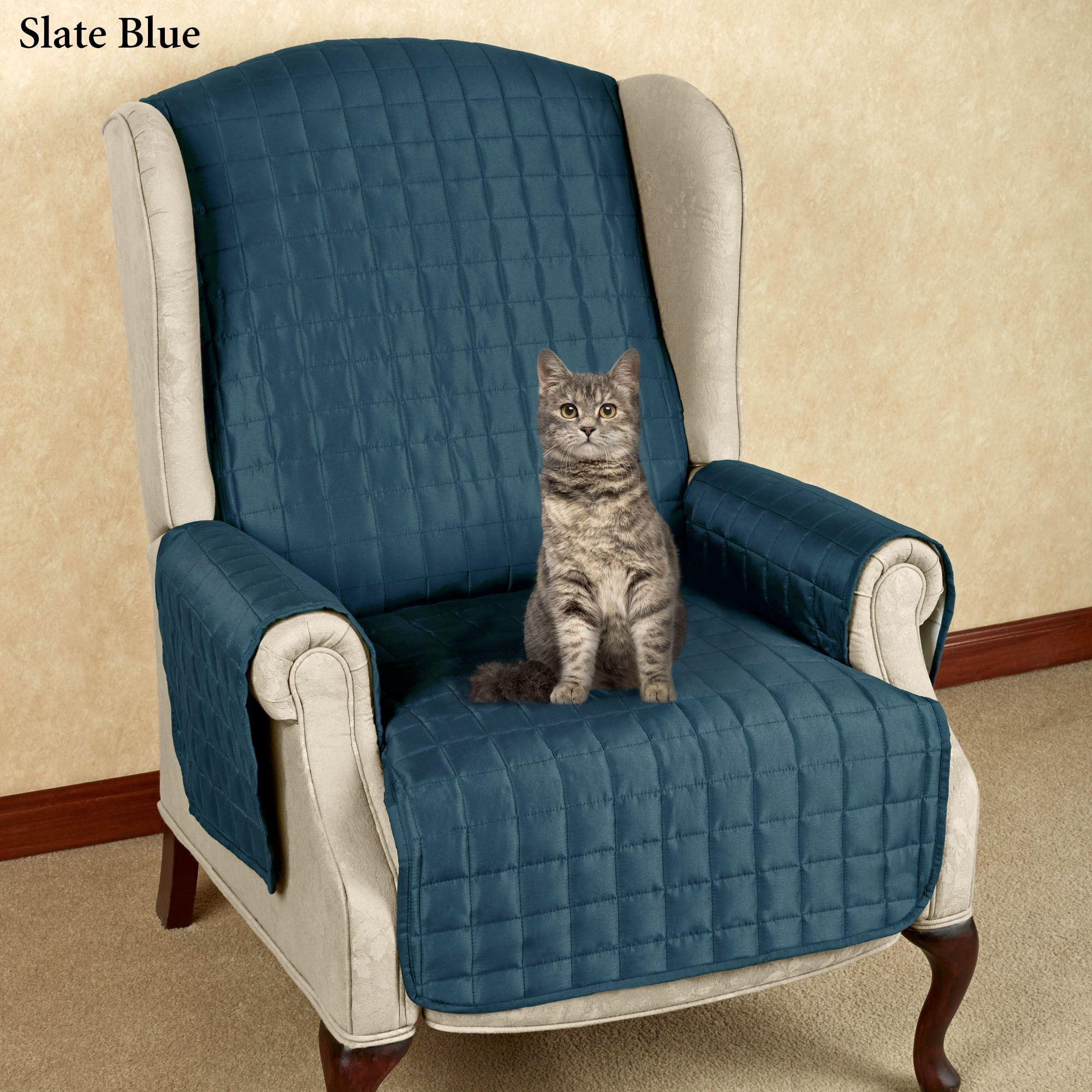 Microfiber Pet Furniture Covers With Tuck In Flaps Within Blue Microfiber Sofas (Image 11 of 20)