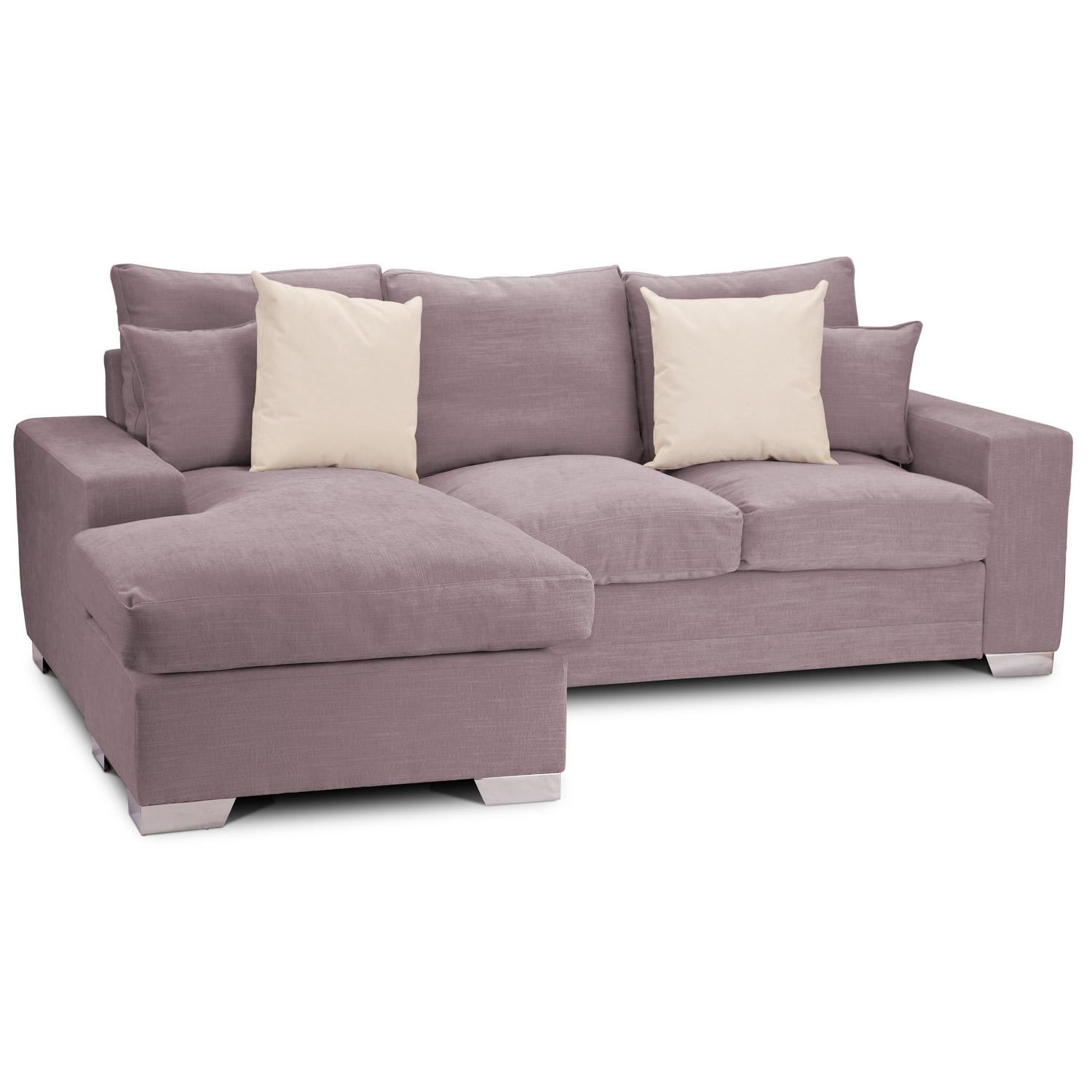 Microfiber Sectional Couch With Chaise Lounge : With Sectional Throughout Short Sectional Sofas (Image 7 of 20)