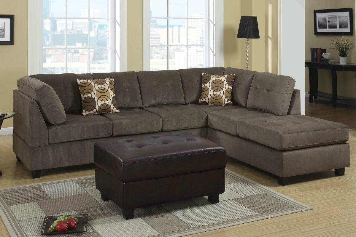 Microfiber Sectional Sofa With Ottoman | Tehranmix Decoration Inside Leather And Suede Sectional Sofa (Image 18 of 20)