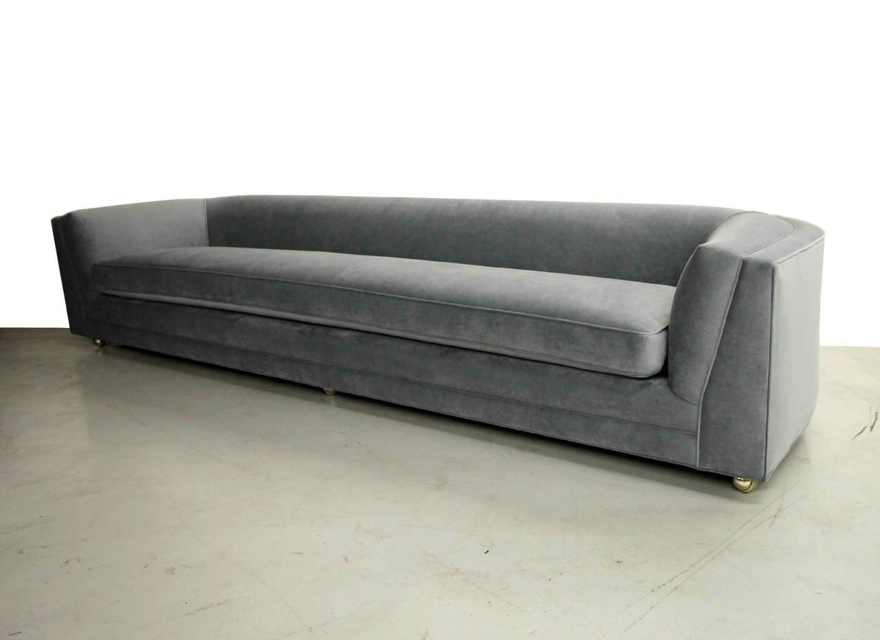 Mid Century 10Ft Long Low Sofa With Rounded Back At 1Stdibs Inside Rounded Sofa (Image 12 of 20)