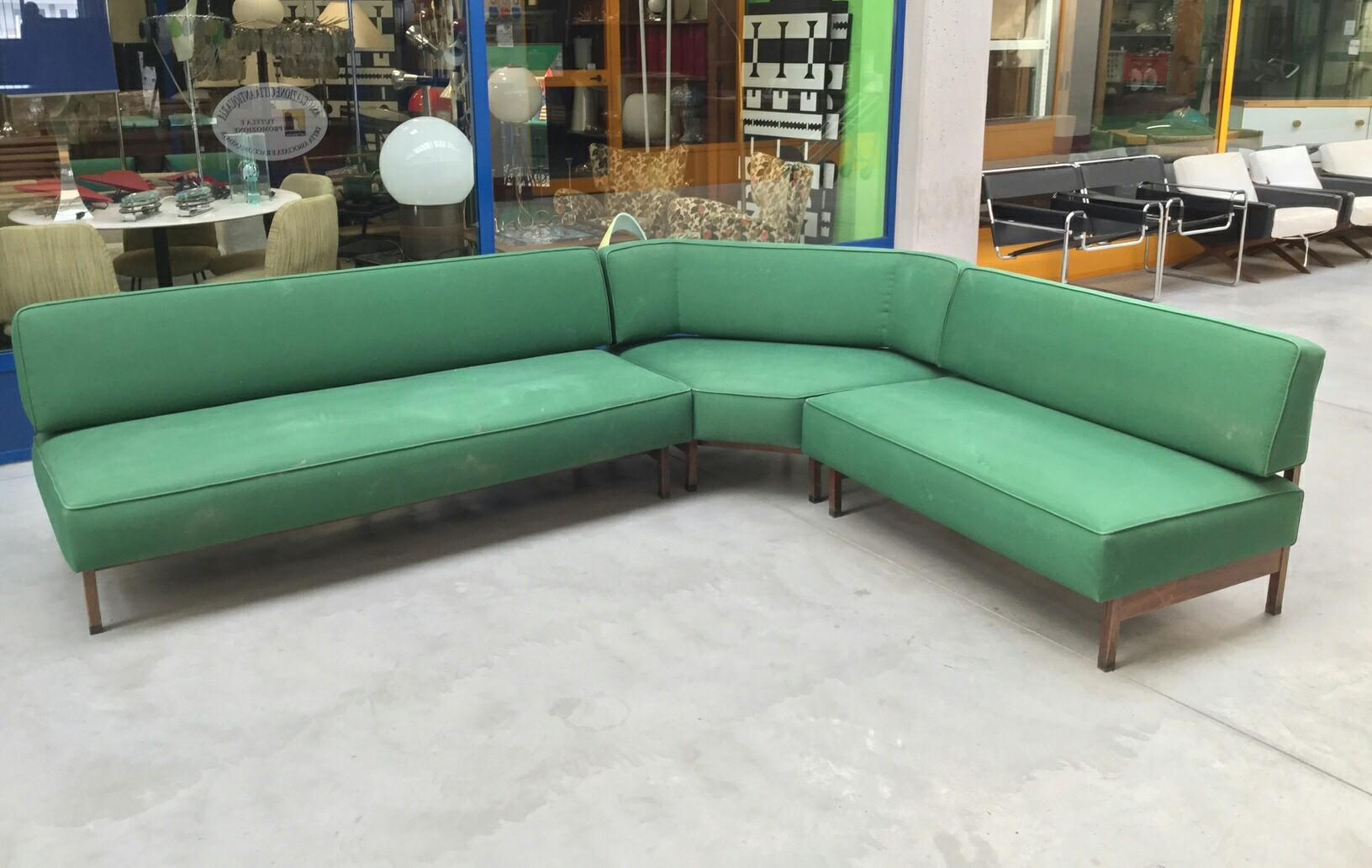 Mid Century Italian Green Modular Corner Sofa, 1960S For Sale At With Modular Corner Sofas (View 14 of 20)