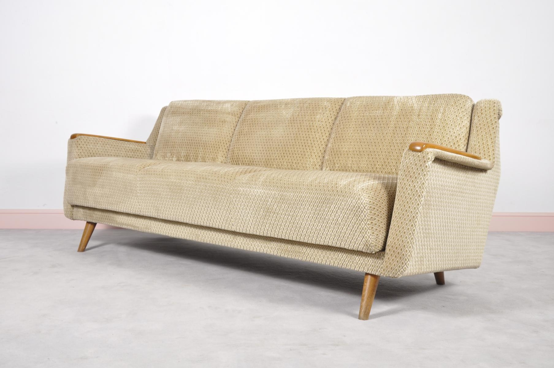 Mid Century Modern Danish Sofa Bed With Oak Arm Rests For Sale At Inside Modern Danish Sofas (View 9 of 20)