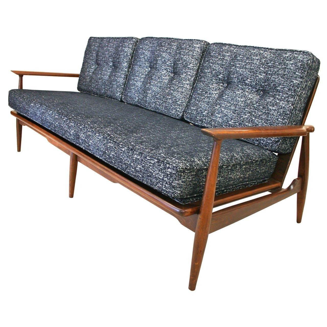 Mid Century Modern Danish Sofa With Walnut Frame And New Inside Modern Danish Sofas (View 4 of 20)