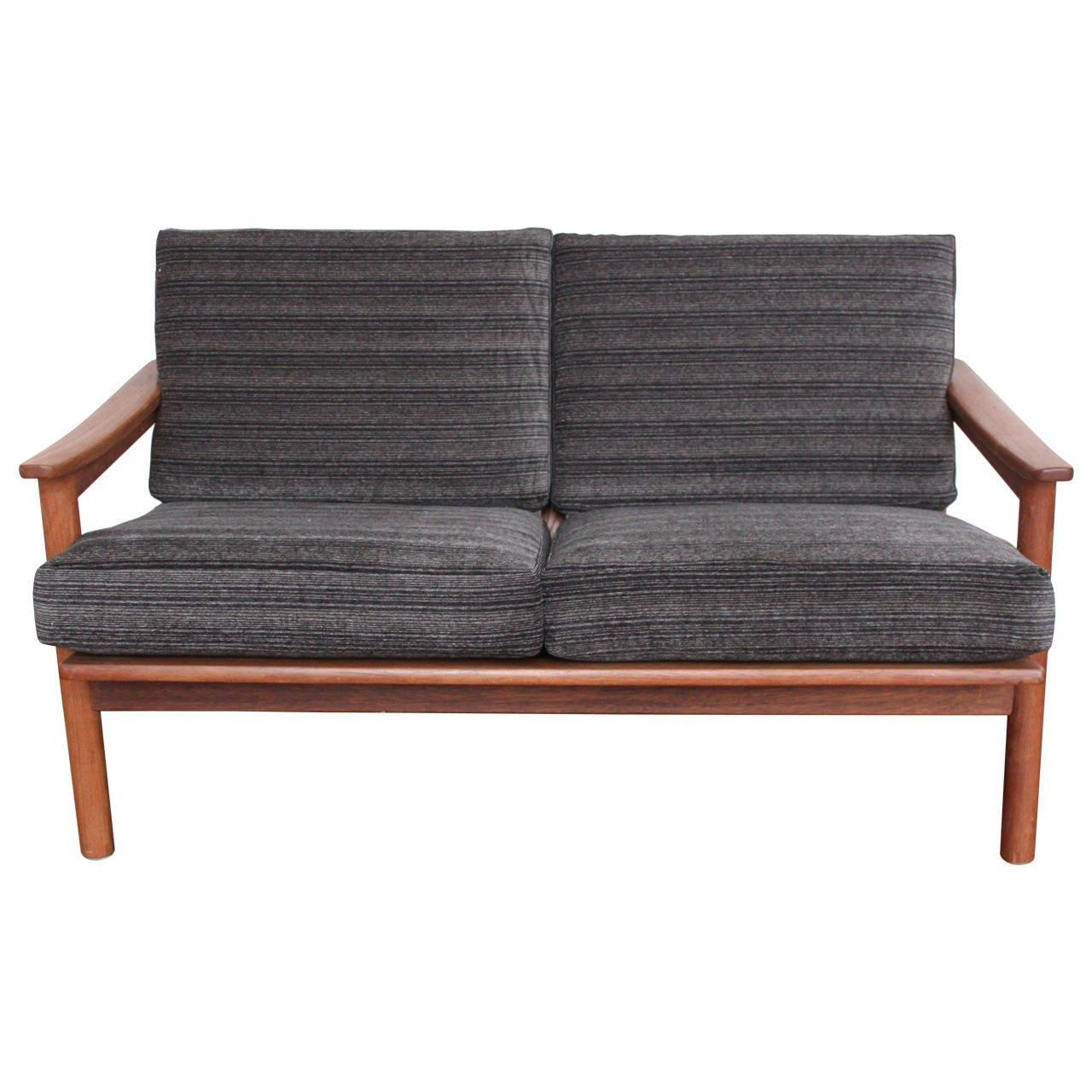 Mid Century Modern Danish Teak Loveseat Sofa At 1Stdibs Within Modern Danish Sofas (View 17 of 20)