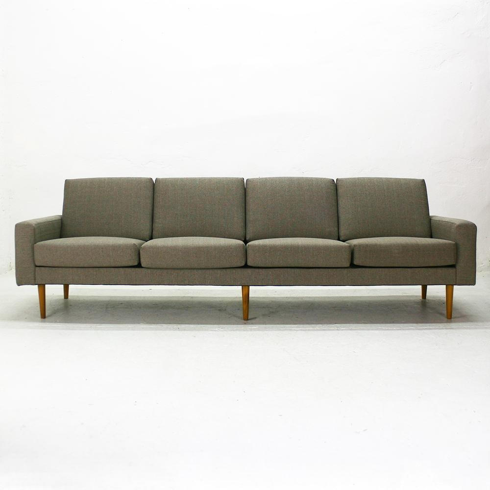 Mid Century Modern Four Seater Sofa For Sale At Pamono Pertaining To Four Seater Sofas (Image 15 of 20)
