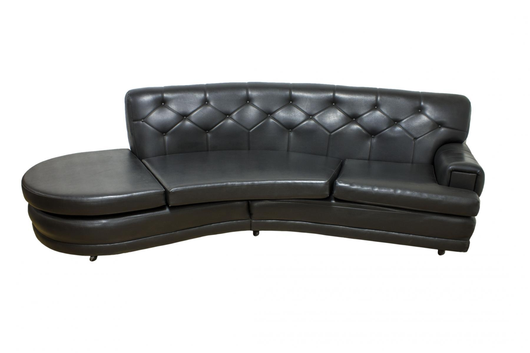 Mid Century Retro Black Vinyl Sofa From G Plan For Sale At Pamono Pertaining To Black Vinyl Sofas (Image 13 of 20)